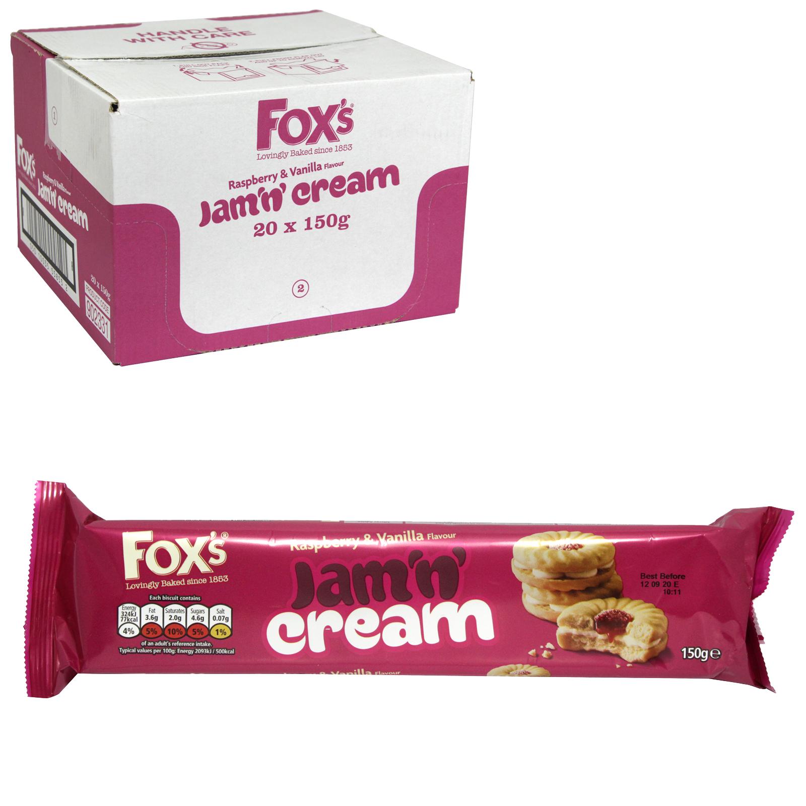 FOXS JAM N CREAMS 150G X20
