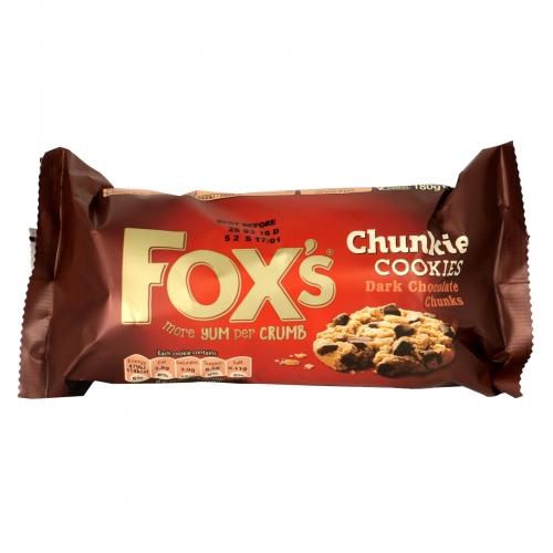 FOXS CHUNKY DARK CHOC CHIP COOKIES X9