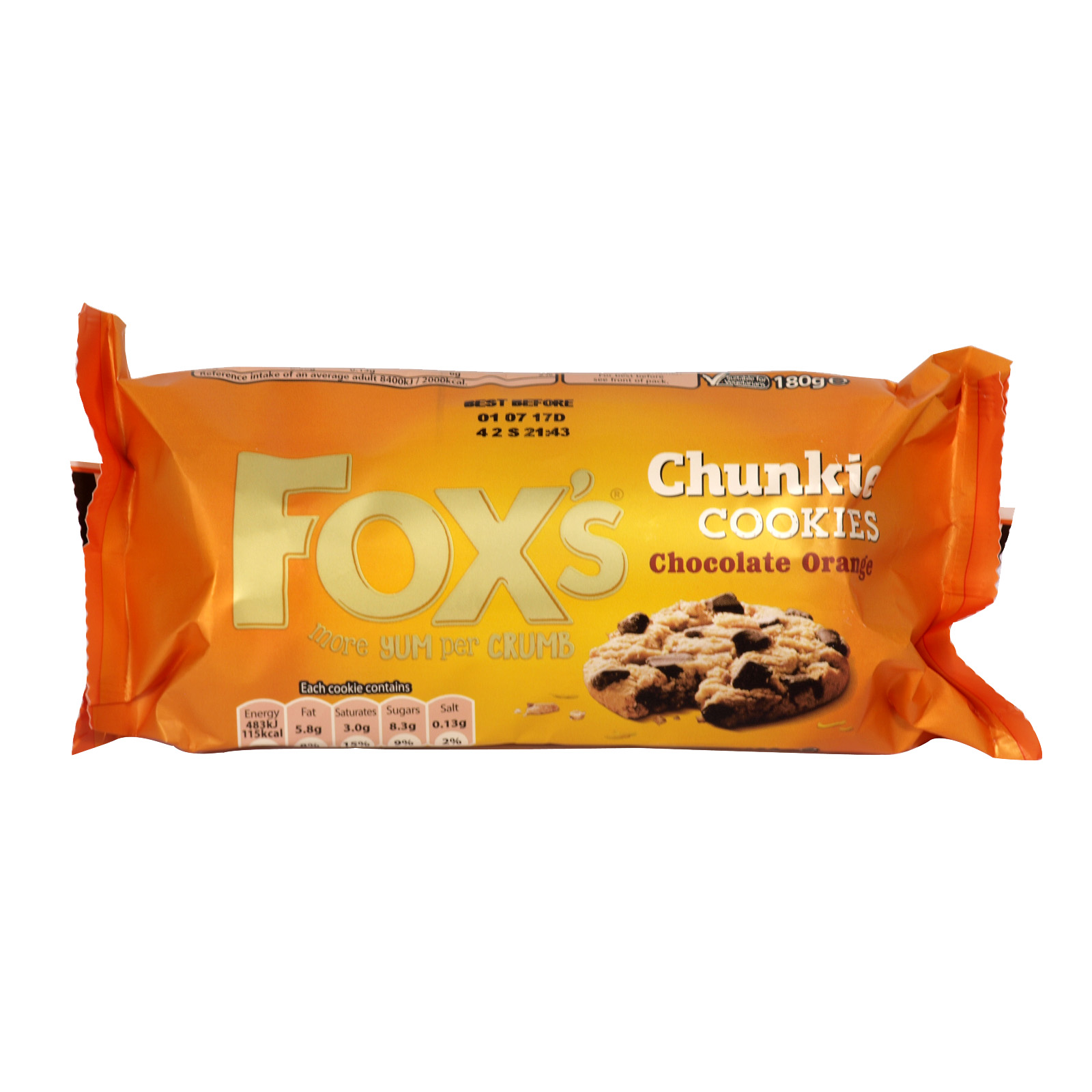 FOXS CHUNCKY COOKIES CHOCOLATE ORANGE X9