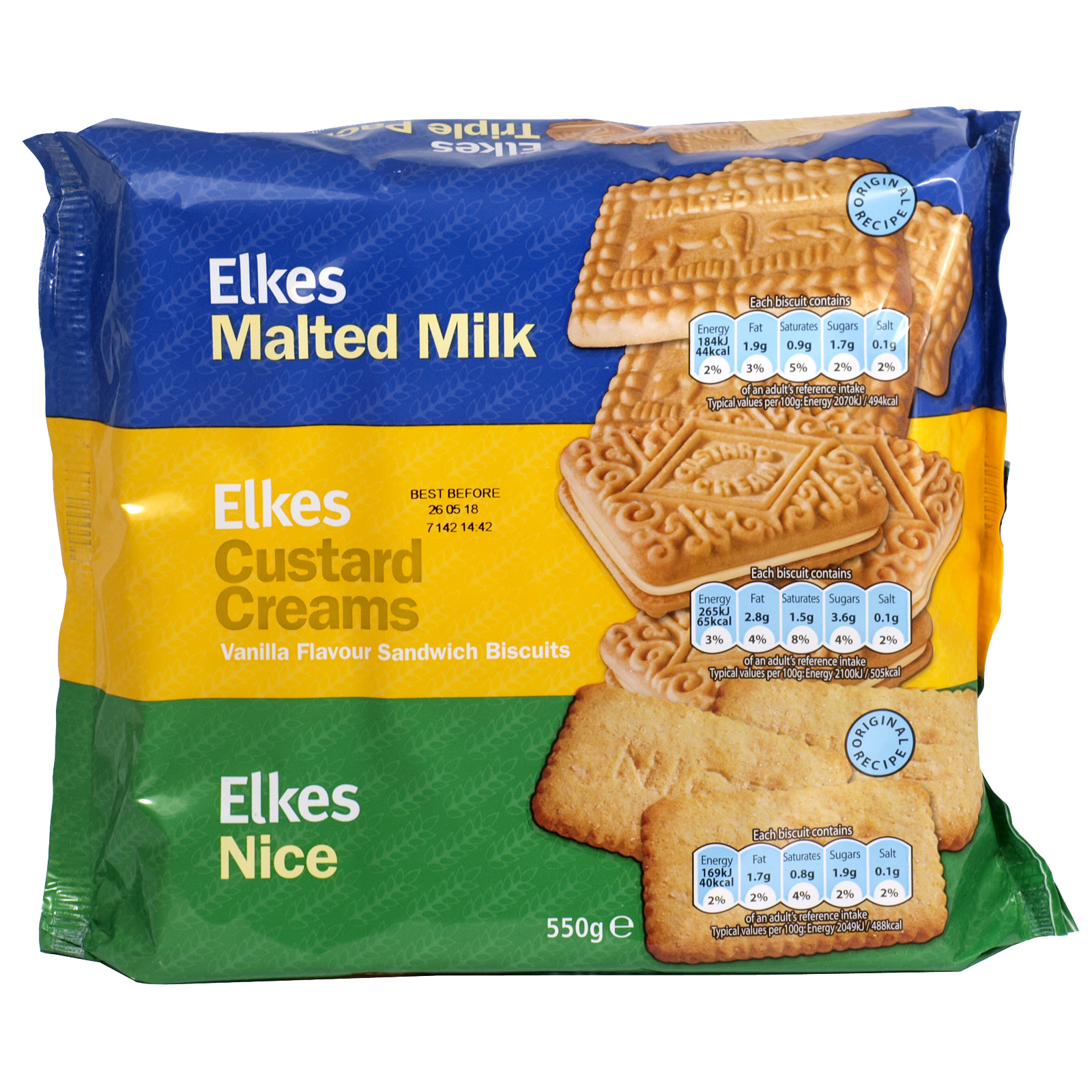 ELKES VALUE CREAMS 3 PACK 550GM X12