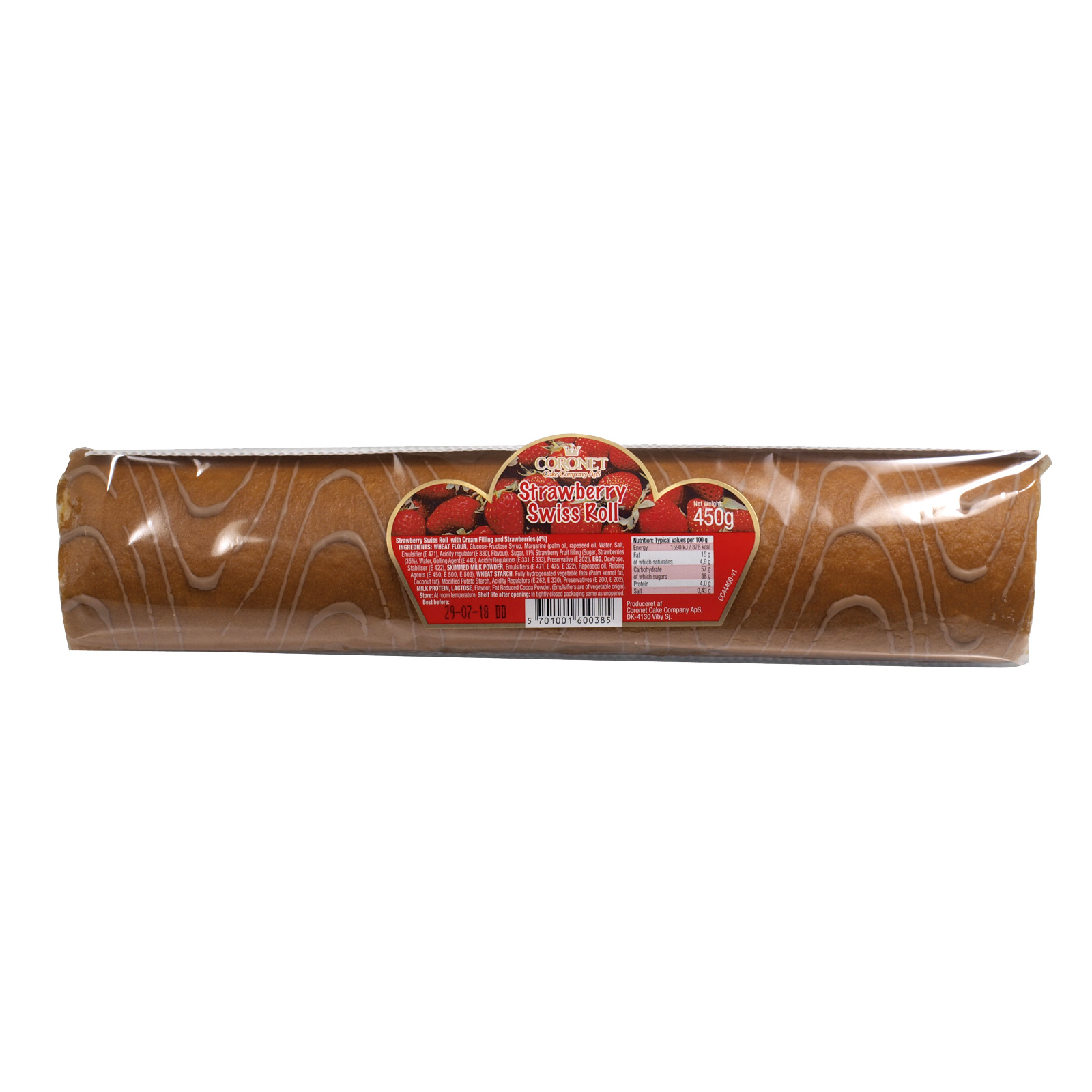 CORONET SWISS ROLL STRAWBERRY X8