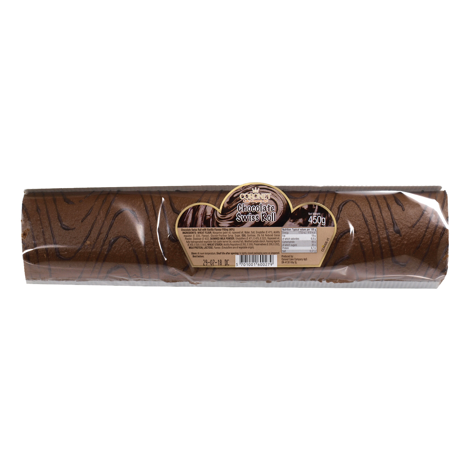 CORONET SWISS ROLL CHOCOLATE X8