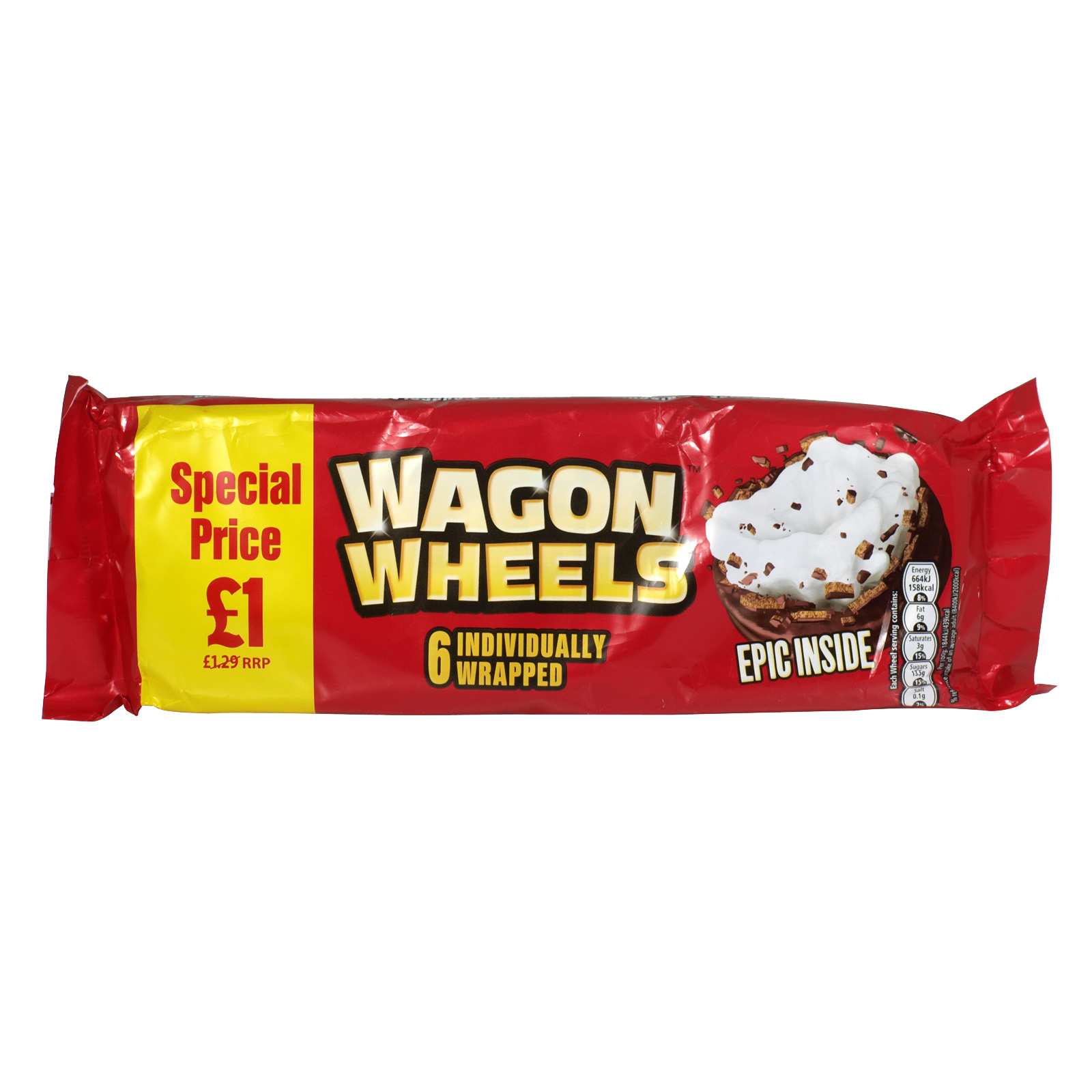 WAGON WHEELS ORIGINAL 6 PACK PM ?1.00 X16