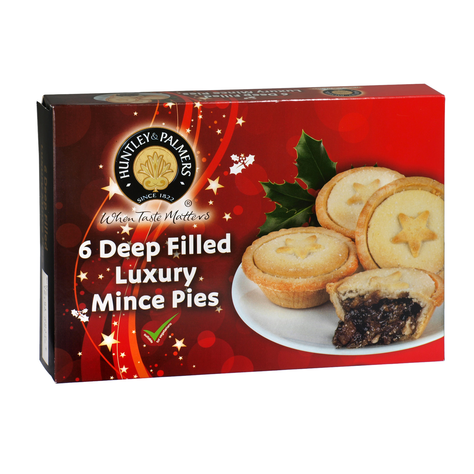 H & P DEEP FILLED MINCE PIES 6PK X18