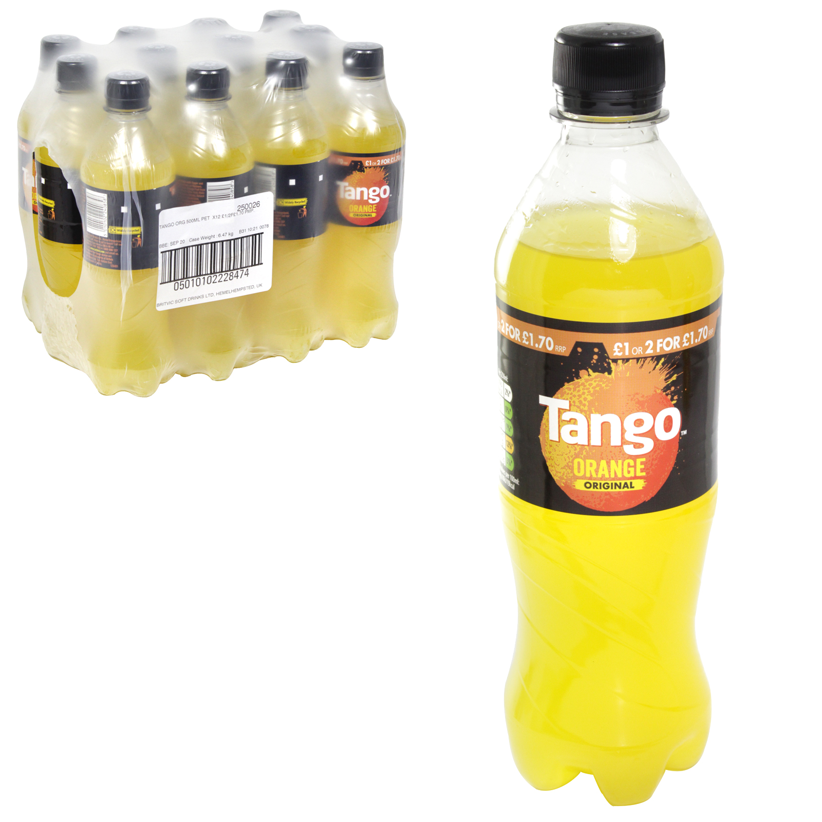 TANGO ORANGE BOTTLES 500ML PM?1 OR 2 ?1.70 X12
