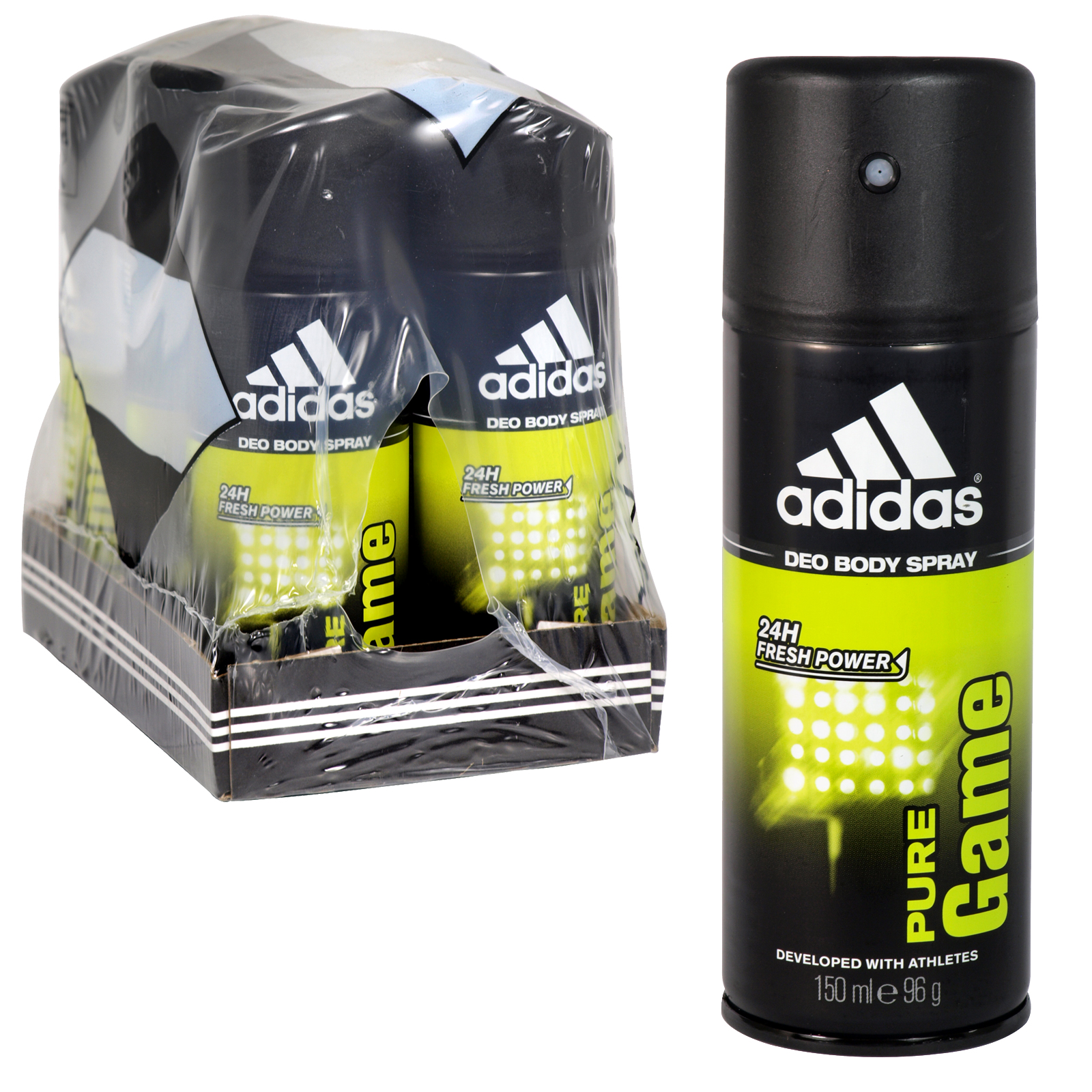 ADIDAS DEO BODY SPRAY 150ML PURE GAME X6