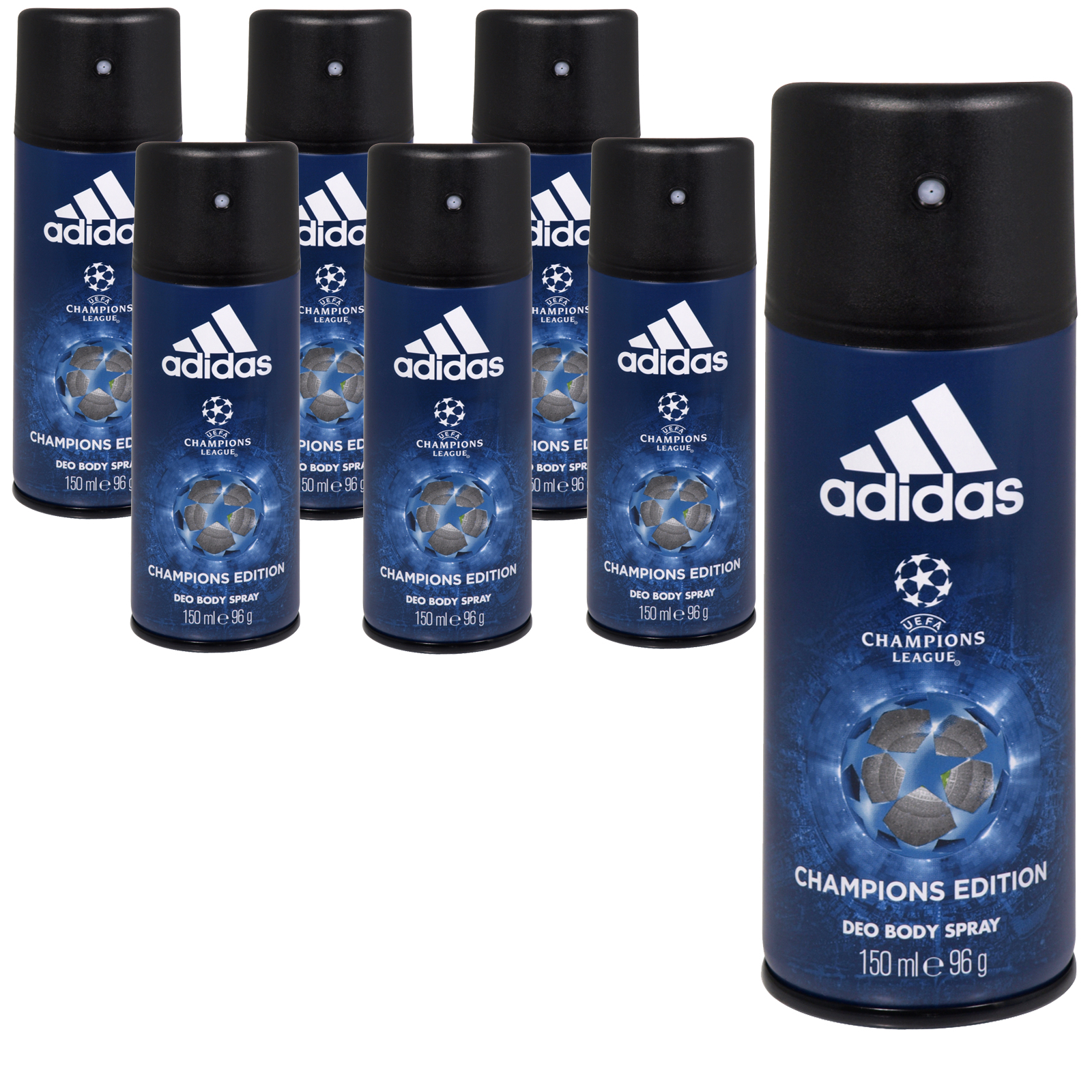 ADIDAS DEO BODYSPRAY 150ML CHAMPIONS LEAGUE CHAMPIONS EDITION NO 4 X6