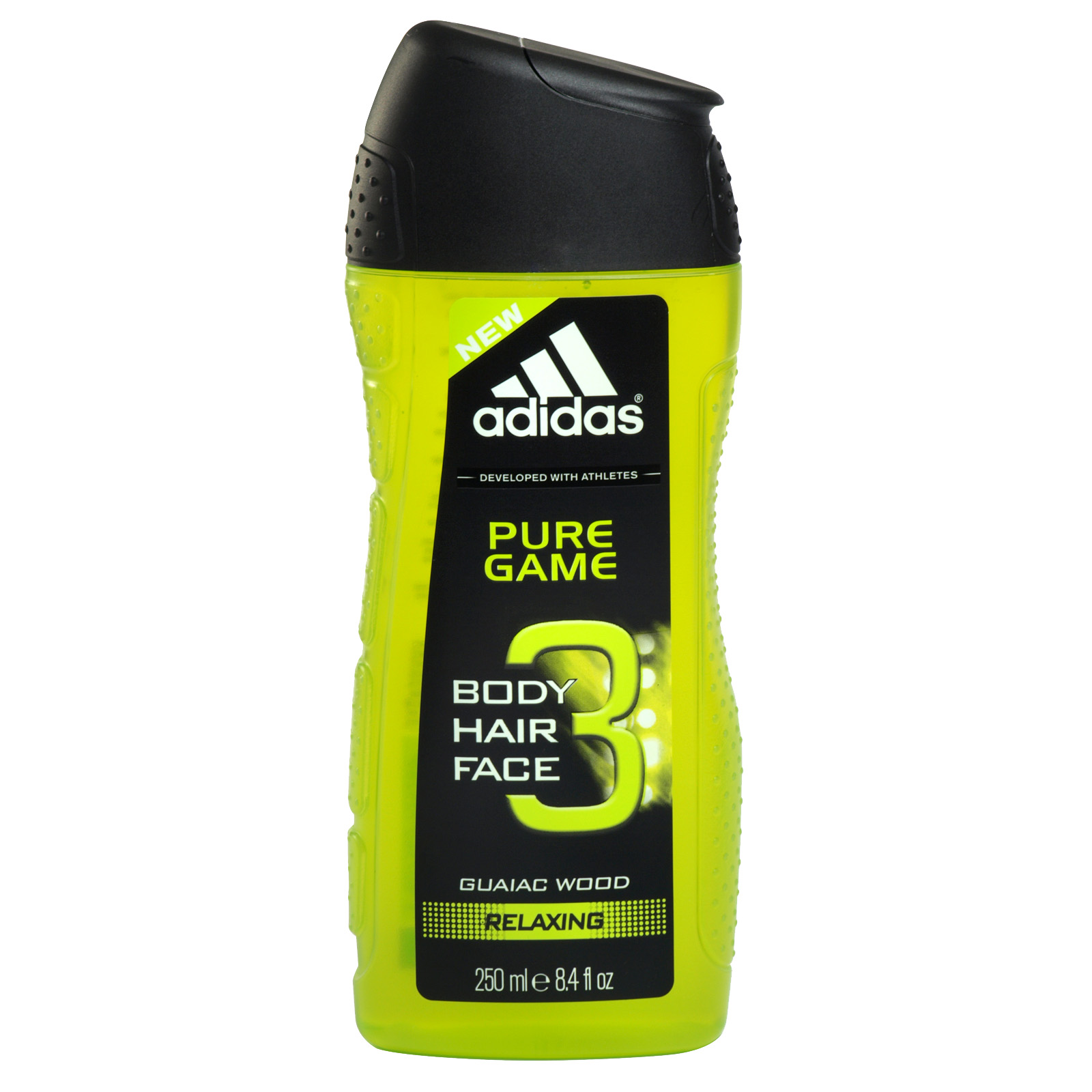 ADIDAS HAIR BODY & FACE 3IN1 SHOWER GEL 250ML PURE GAME X6