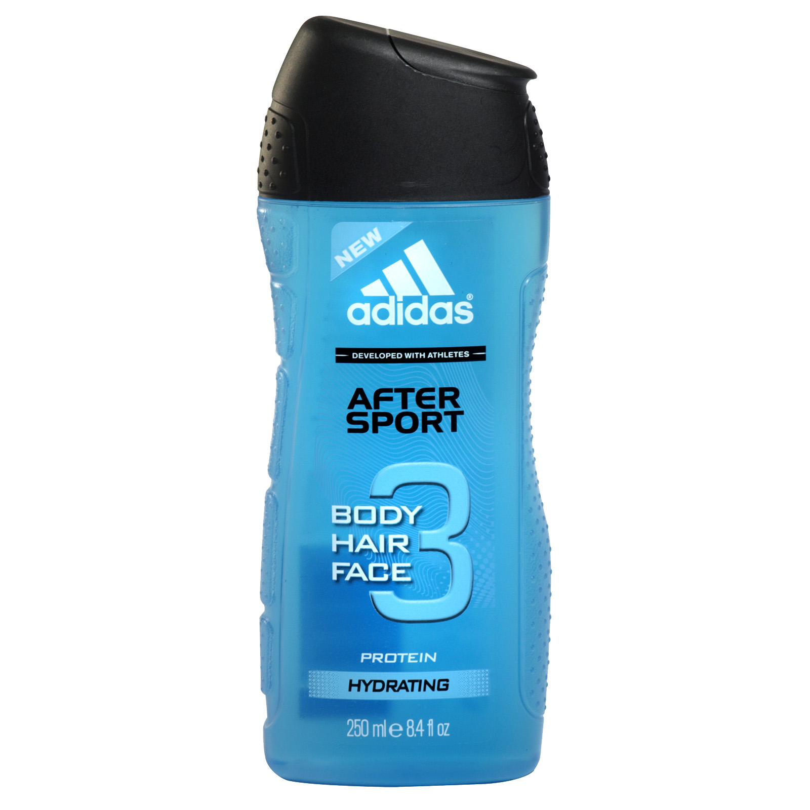 ADIDAS BODY+HAIR+FACE 3 IN 1 SHOWER GEL 250ML AFTERSPORT HYDRATING X6