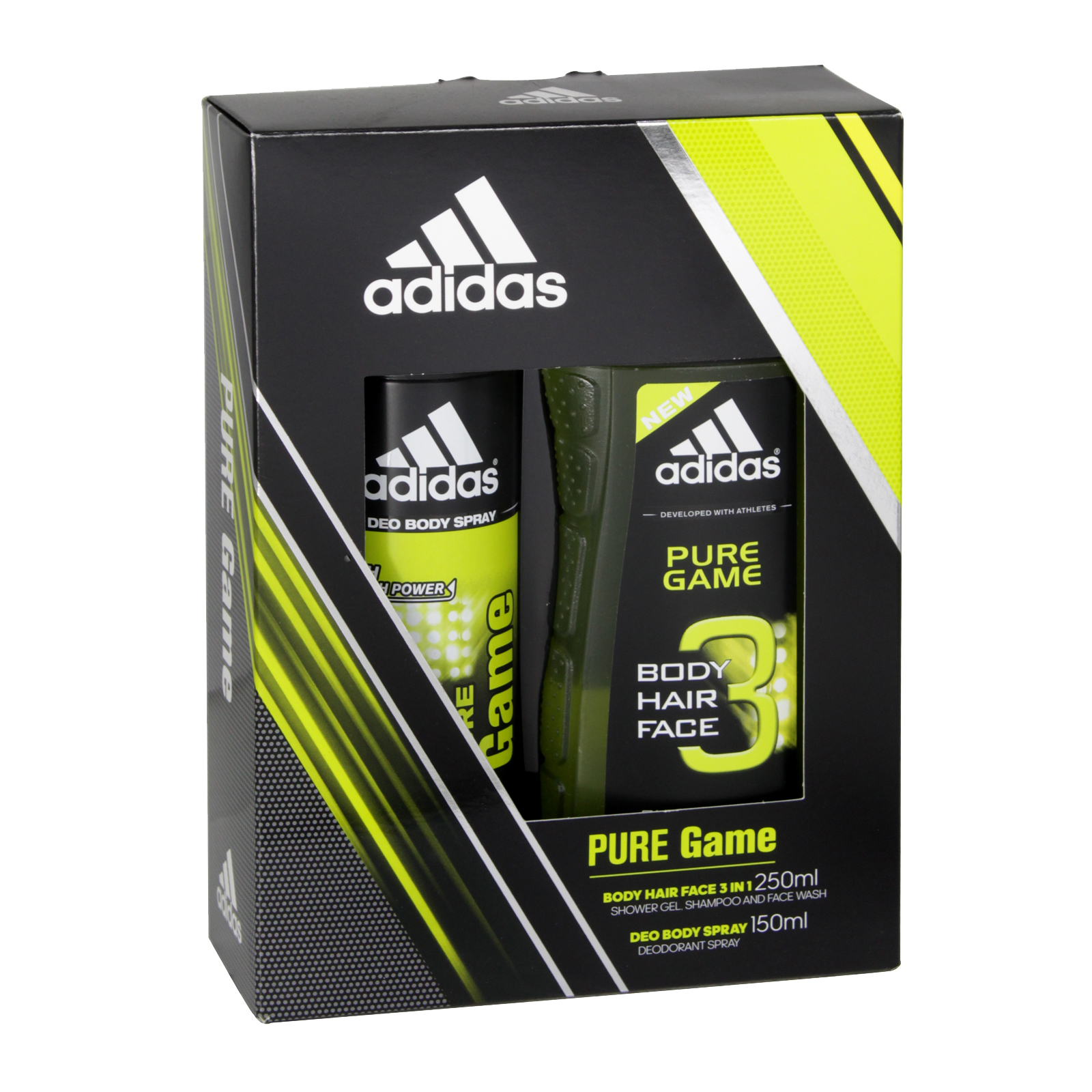 ADIDAS 150ML B/S+250ML S/G PURE GAME