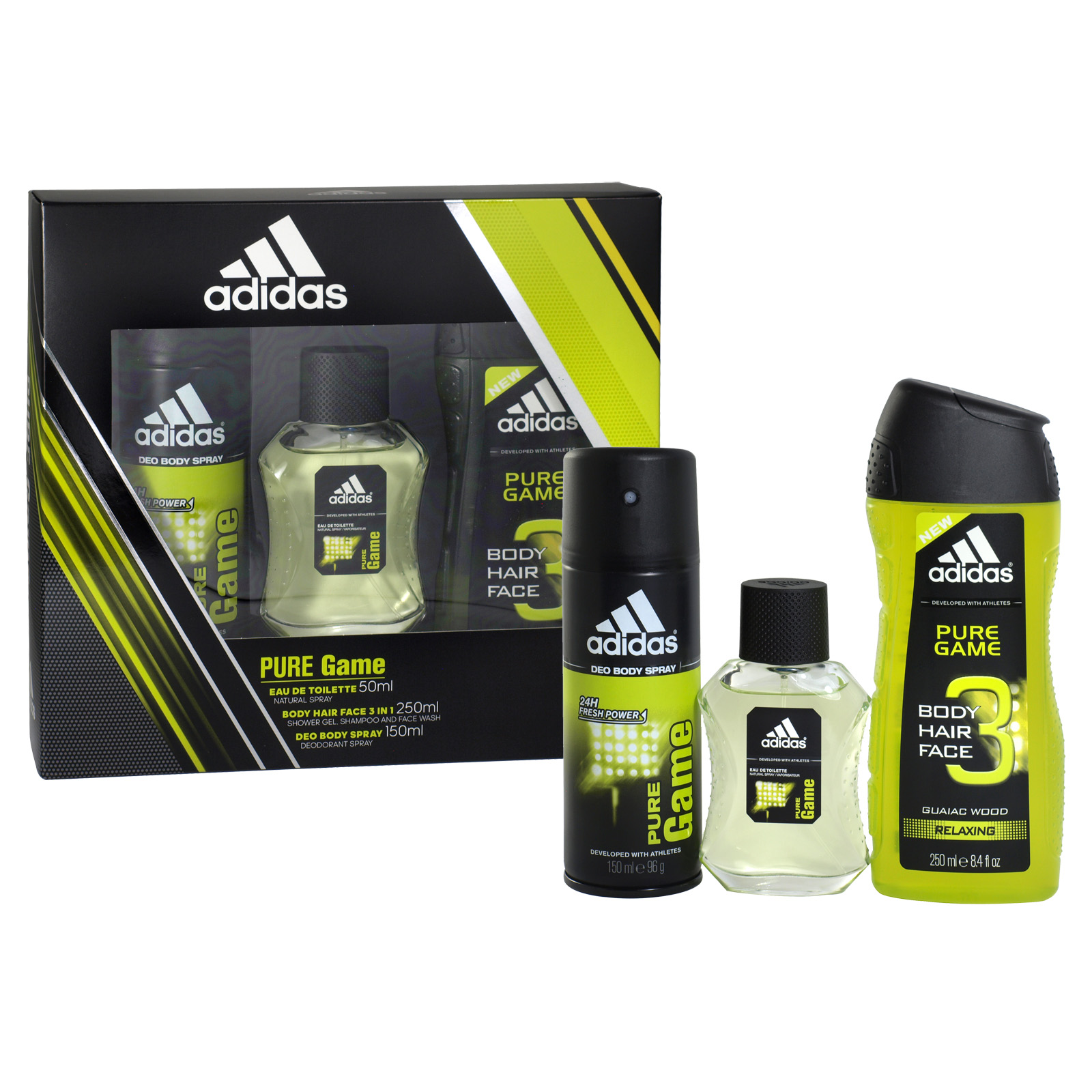 ADIDAS 50M EDT+BSPY+S/GEL PURE GAME X6