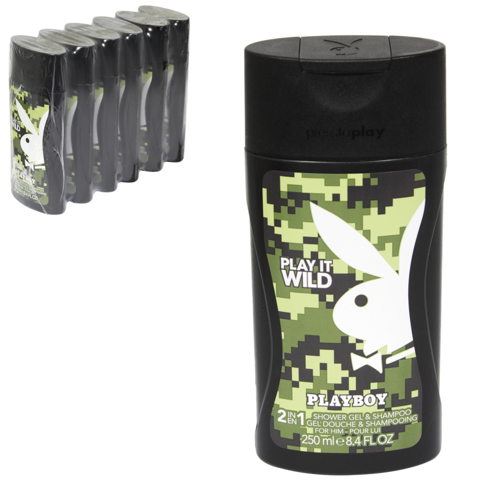 PLAYBOY FEMALE SHOWER GEL 250ML PLAY IT WILD X6
