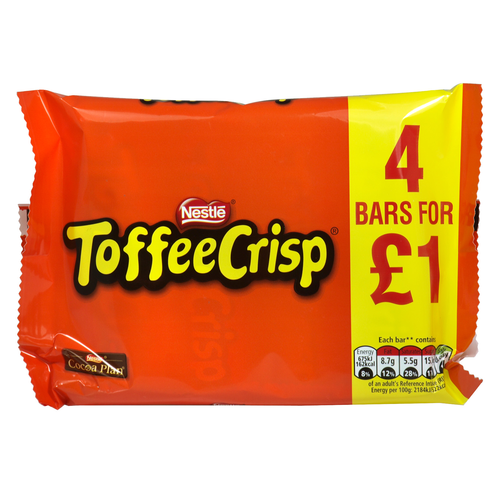 TOFFEE CRISP 4 PACK PM ?1.00 X14