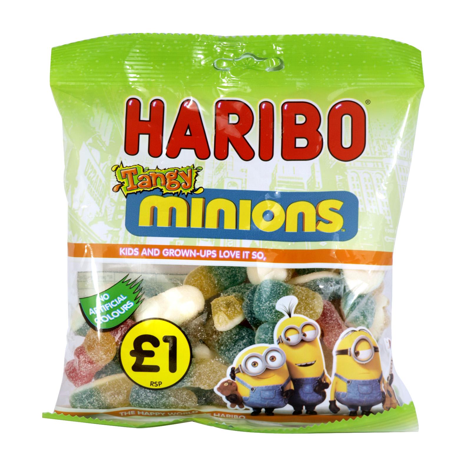 HARIBO 140GM BAGS MINIONS X14