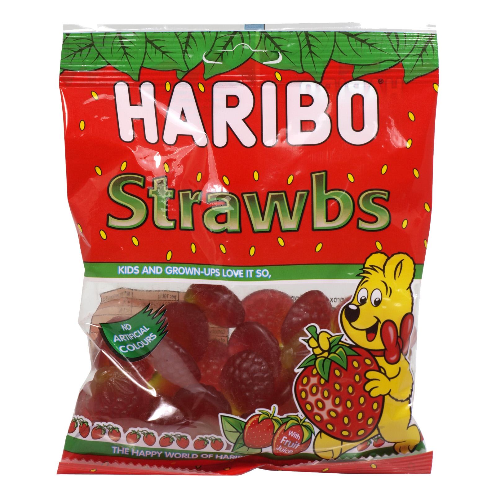 HARIBO 140GM BAGS SQUIDGY STRAWBERRIES X14