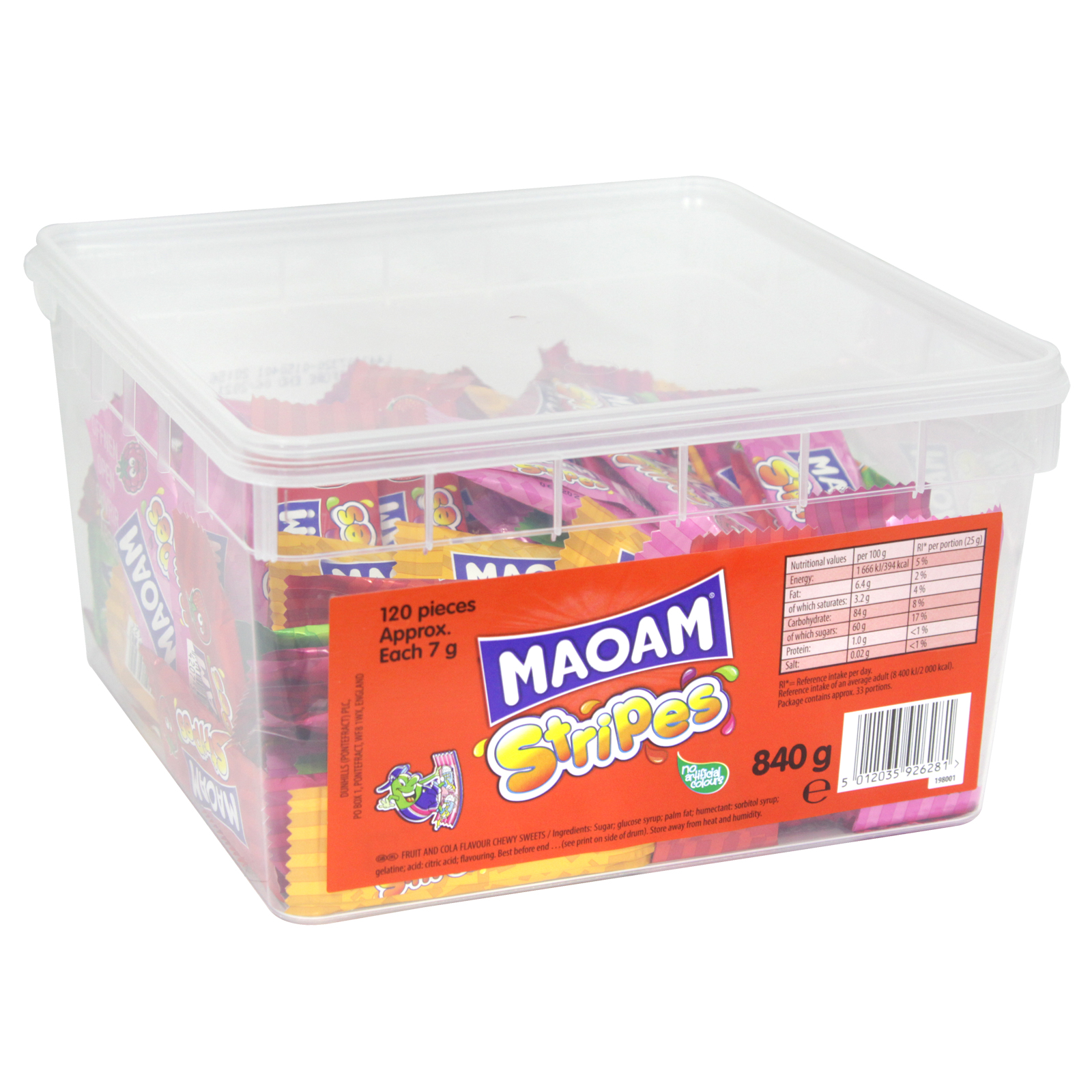 MAOAM STRIPES DRUM 840G APPROX 120 PIECES