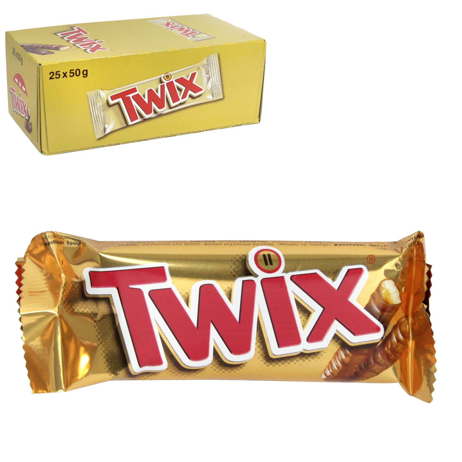 MARS TWIX 50GM X25