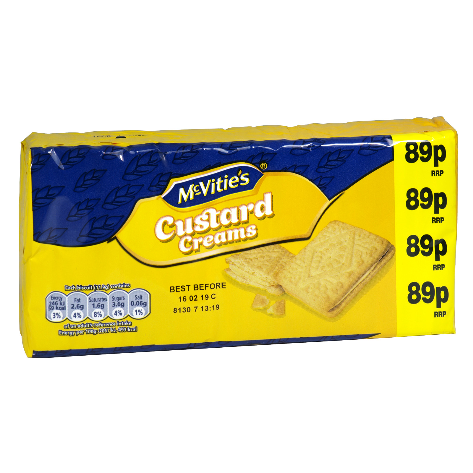 MCVITIES 300GM PM 89P CUSTARD CREAMS