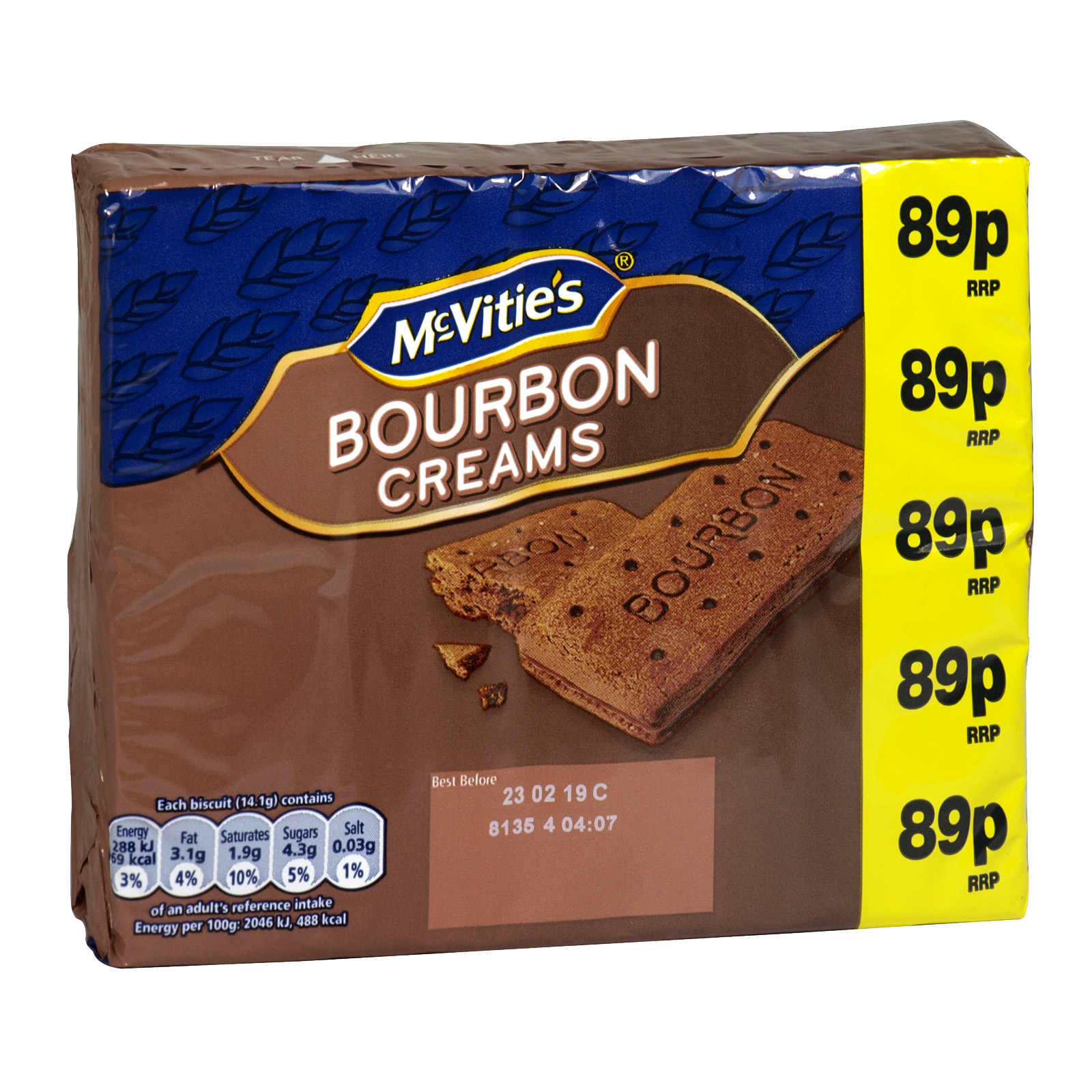 MCVITIES 300GM PM 89P BOURBON CREAMS
