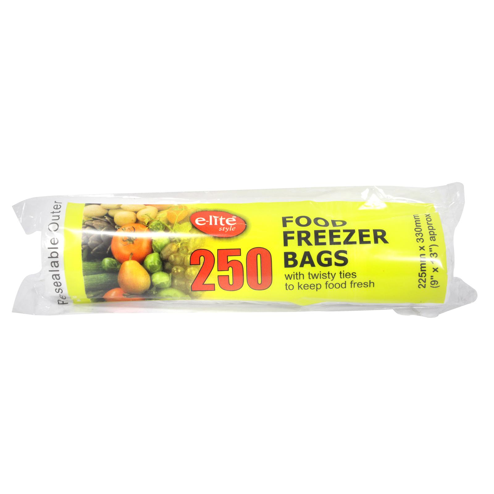 E-LITE STYLE 250 FOOD FREEZER BAG 9X13