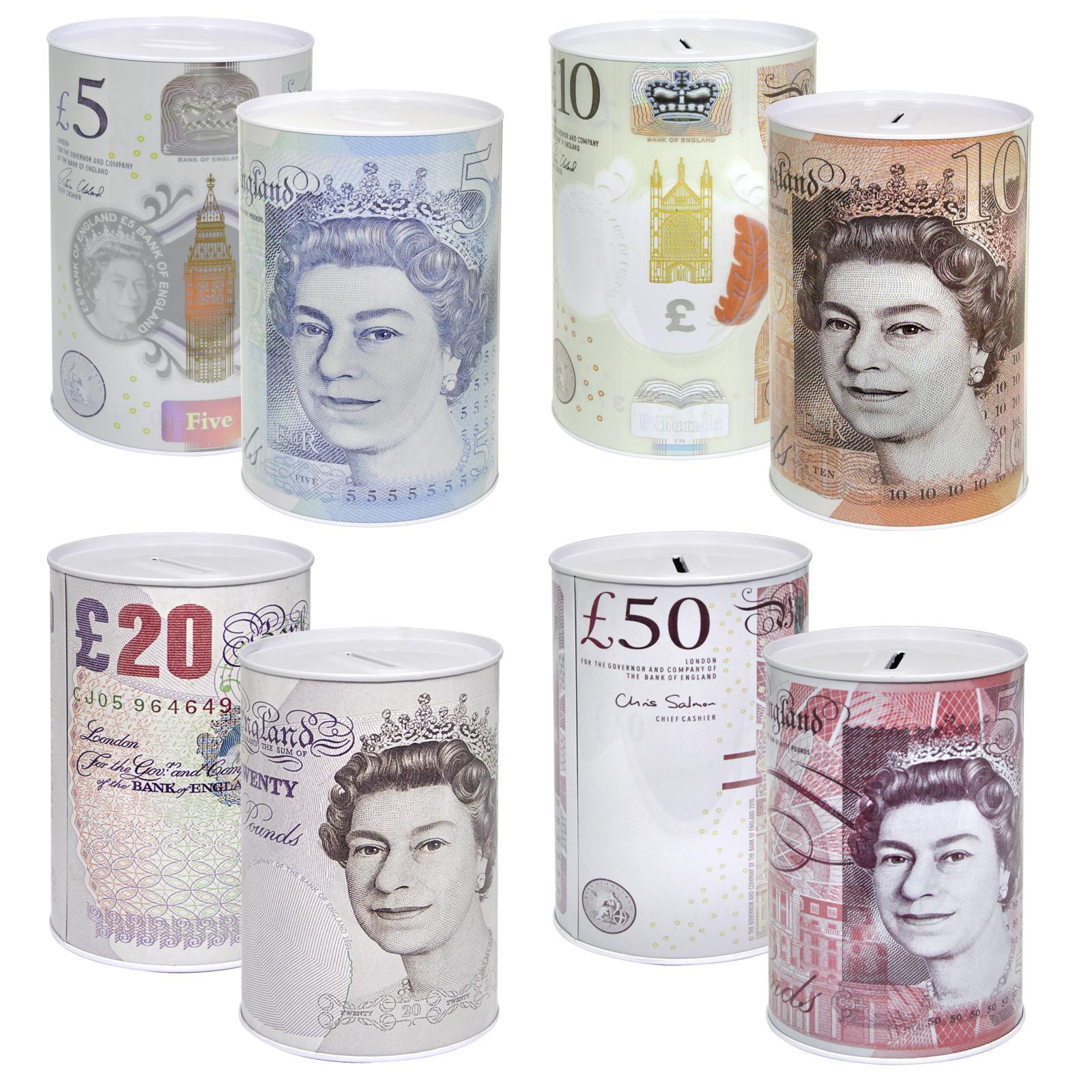 MONEY TIN STERLING LARGE