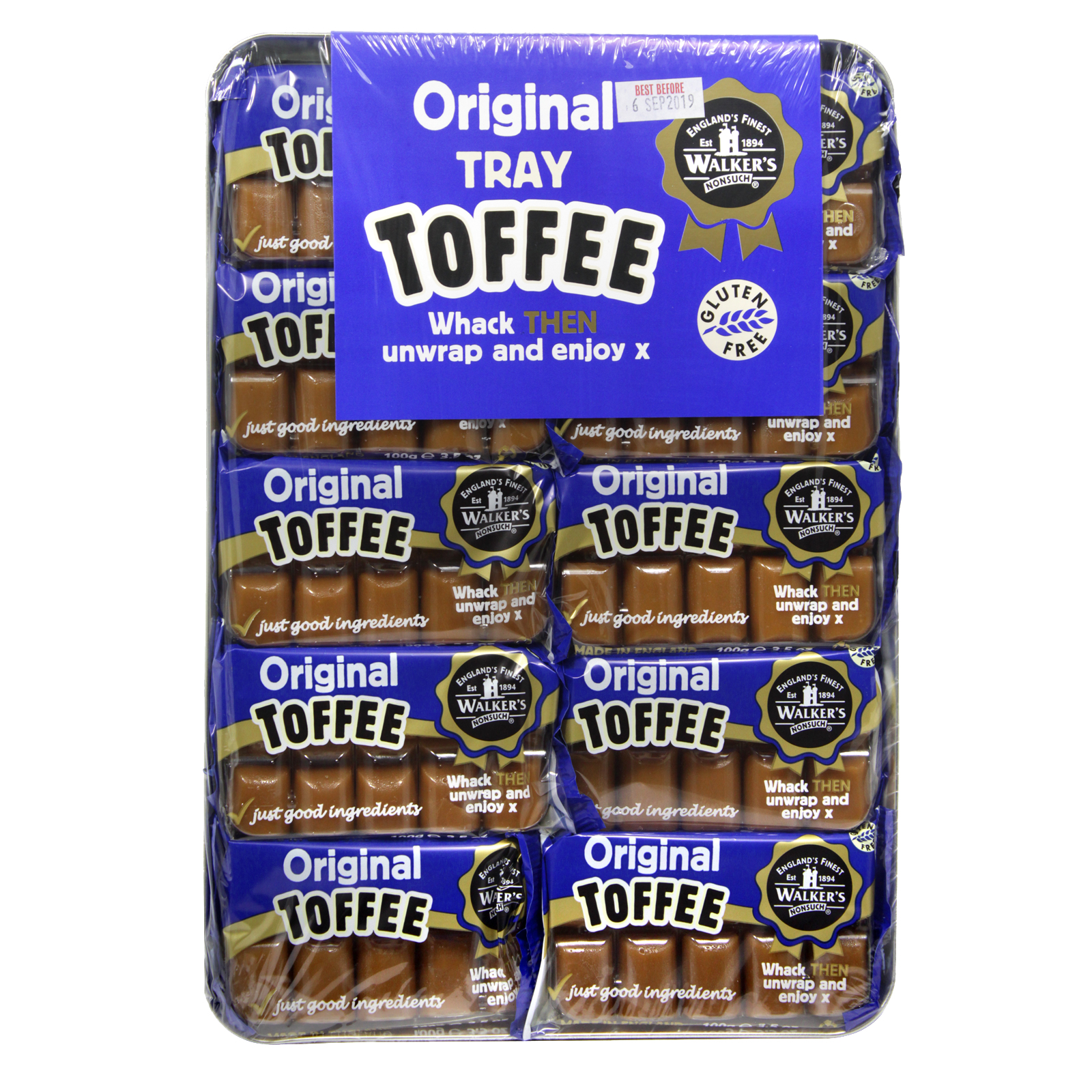 WALKERS TRAY TOFFEE ORIGINAL X10
