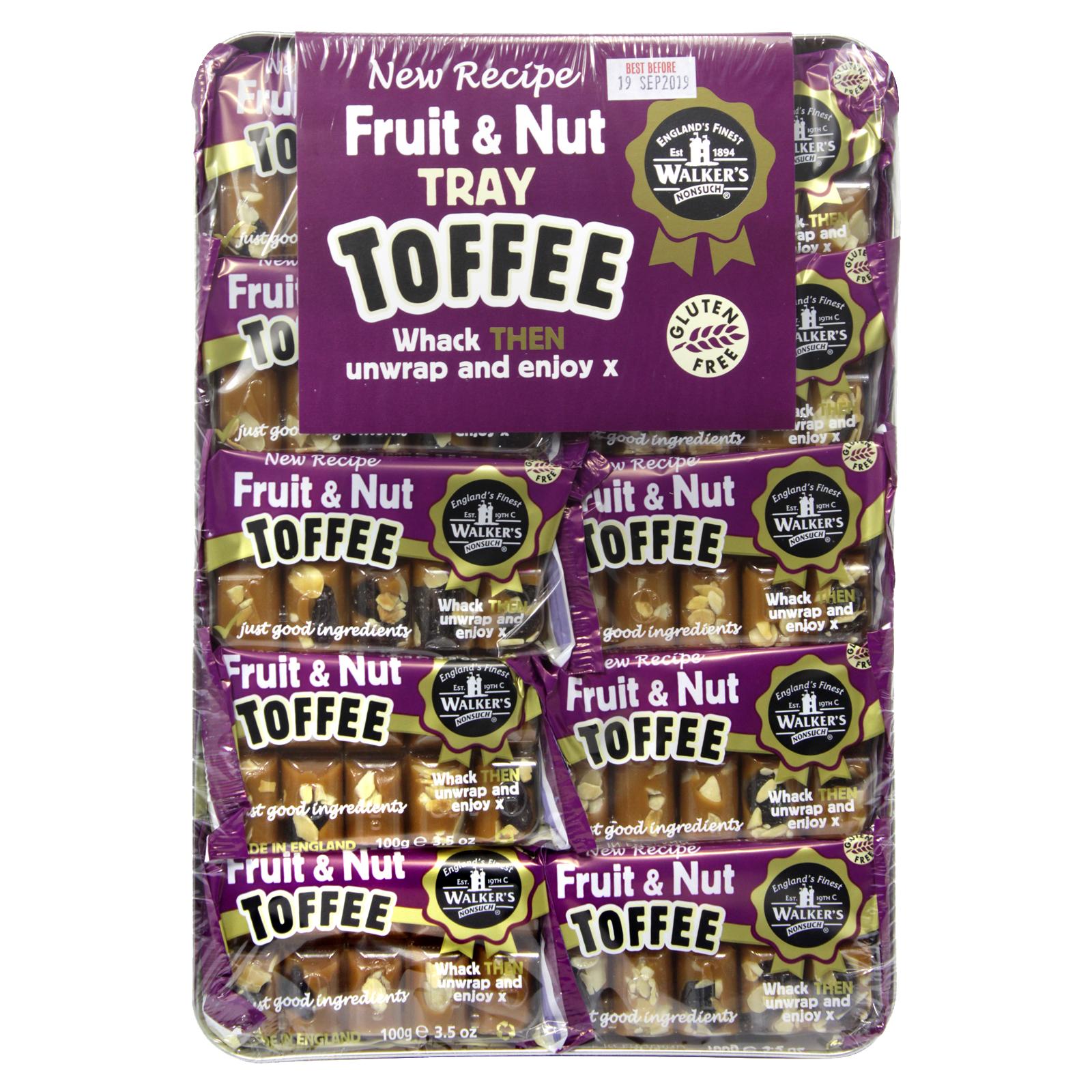 WALKERS TRAY TOFFEE FRUIT & NUT X10