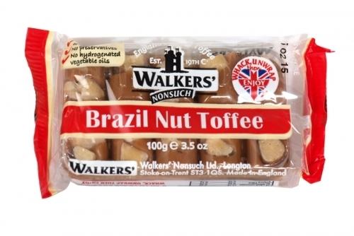 WALKERS TRAY TOFFEE BRAZIL NUT X10