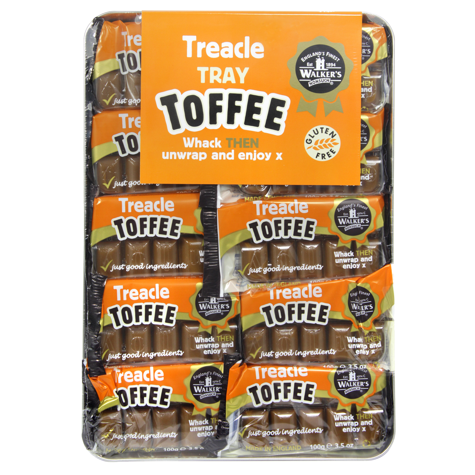 WALKERS TRAY TOFFEE TREACLE X10