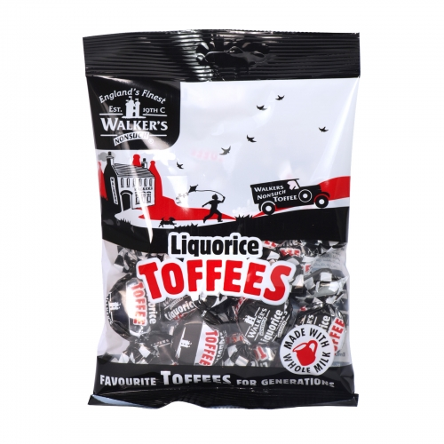 WALKERS 150GM BAG LIQUORICE TOFFEES X12