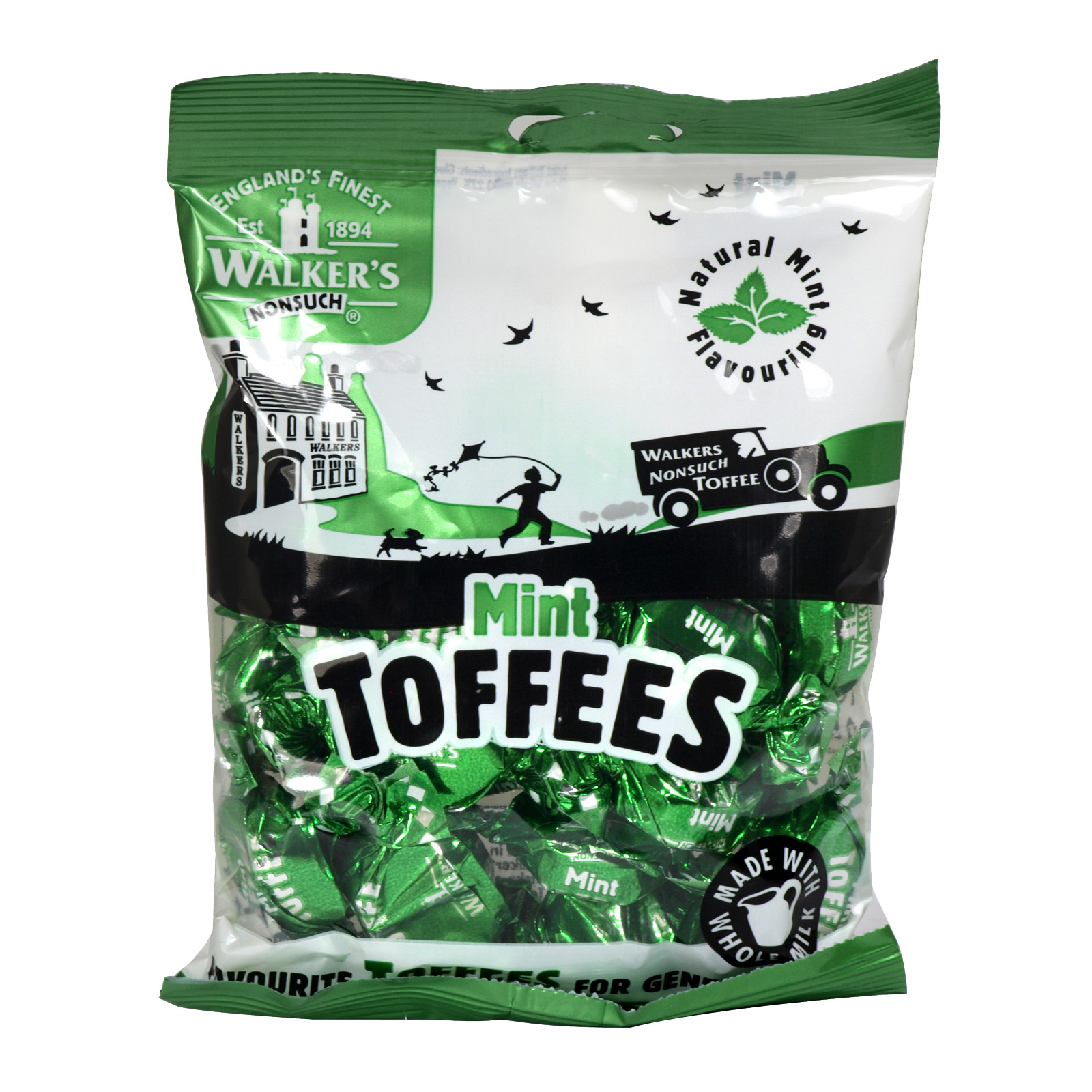 WALKERS BAG 150GM MINT TOFFEES X12