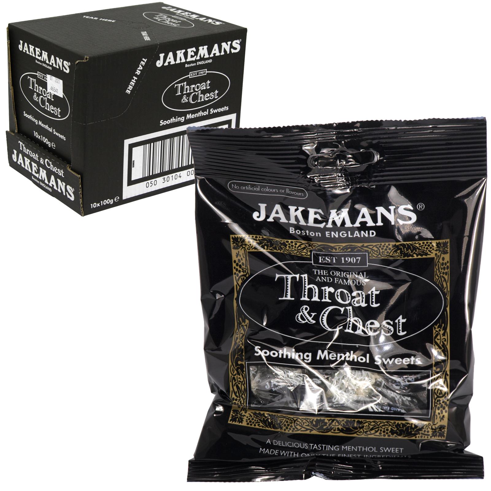 JAKEMANS 100GM BAG THROAT+CHEST X10