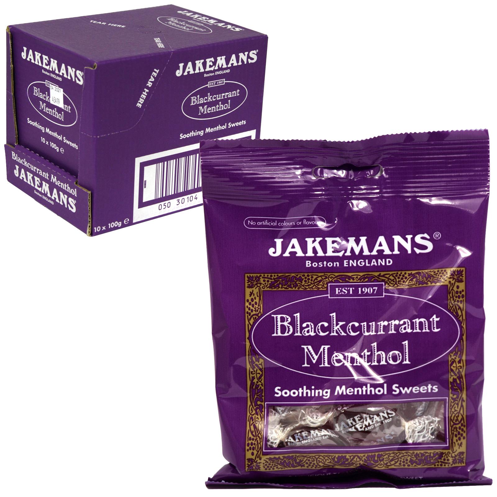 JAKEMANS 100GM BAG BLACKCURRANT X10