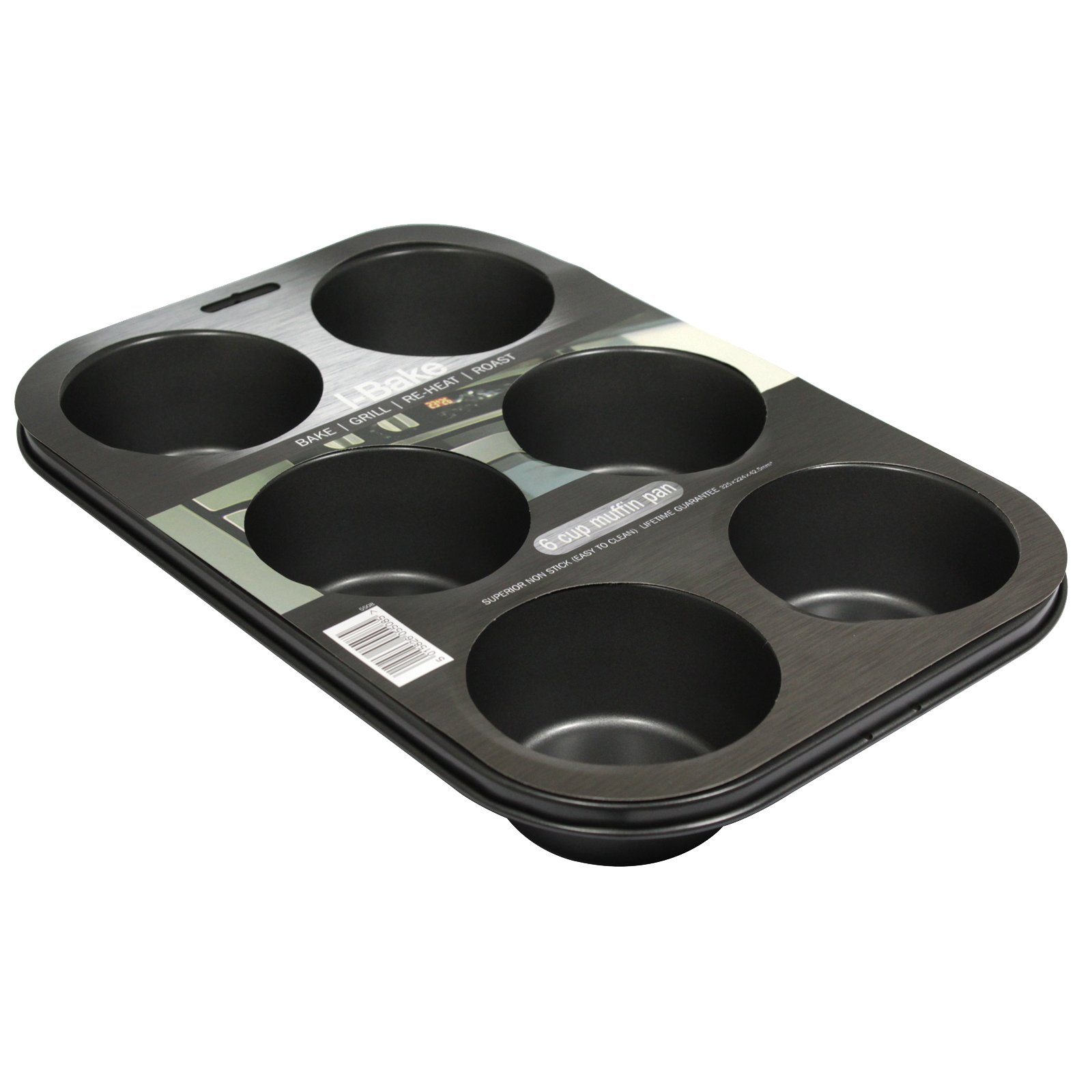 I-BAKE NON STICK 6 CUP MUFFIN PAN