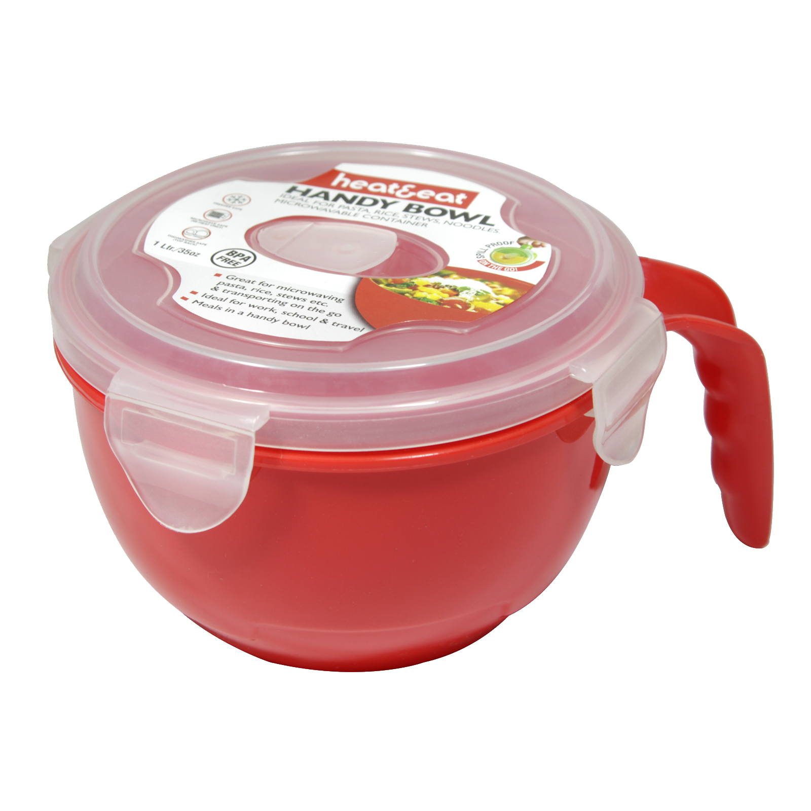 HEAT+EAT MICROWAVE HANDY BOWL RED/GREEN