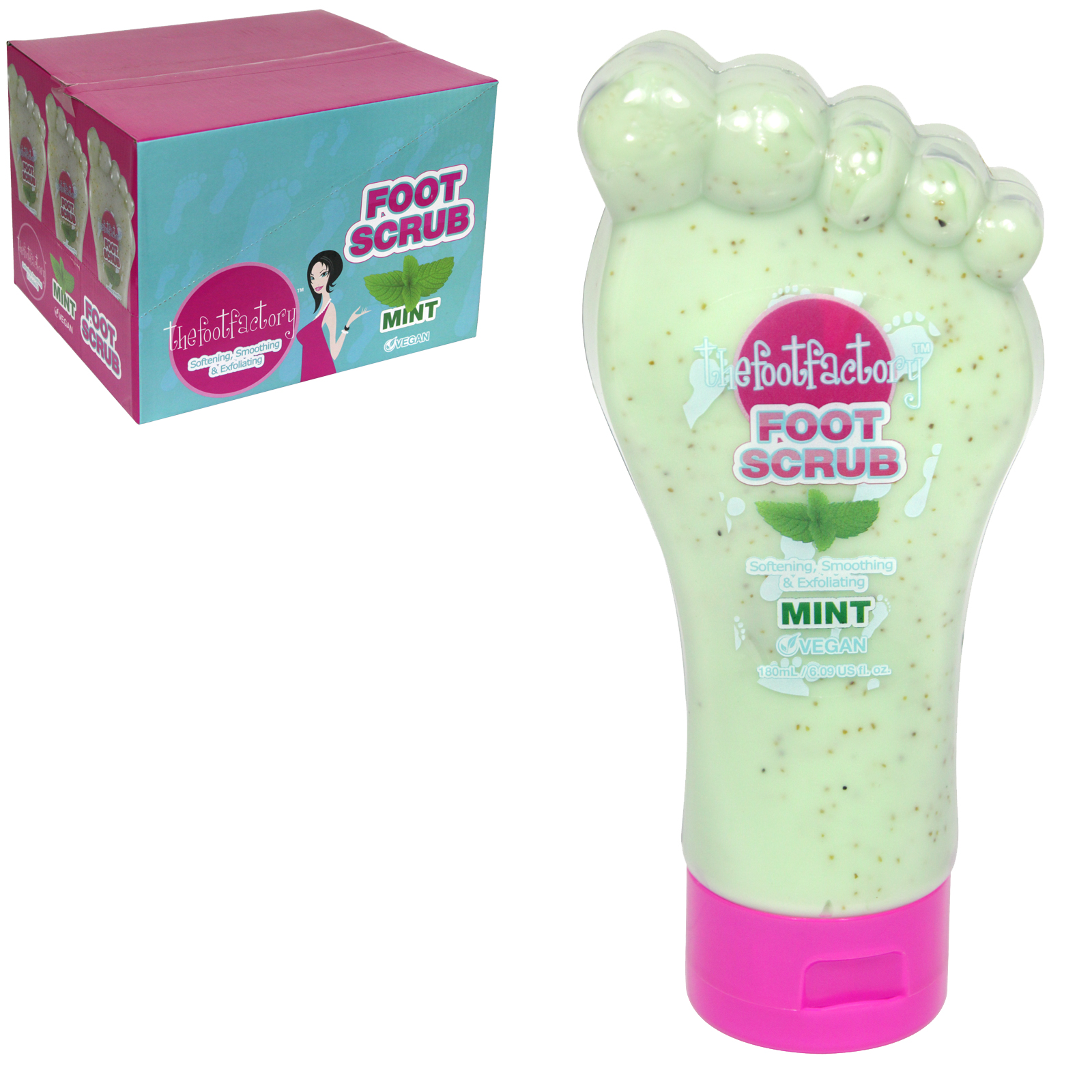 FOOT FACTORY 177ML MINT FOOT SCRUB X12