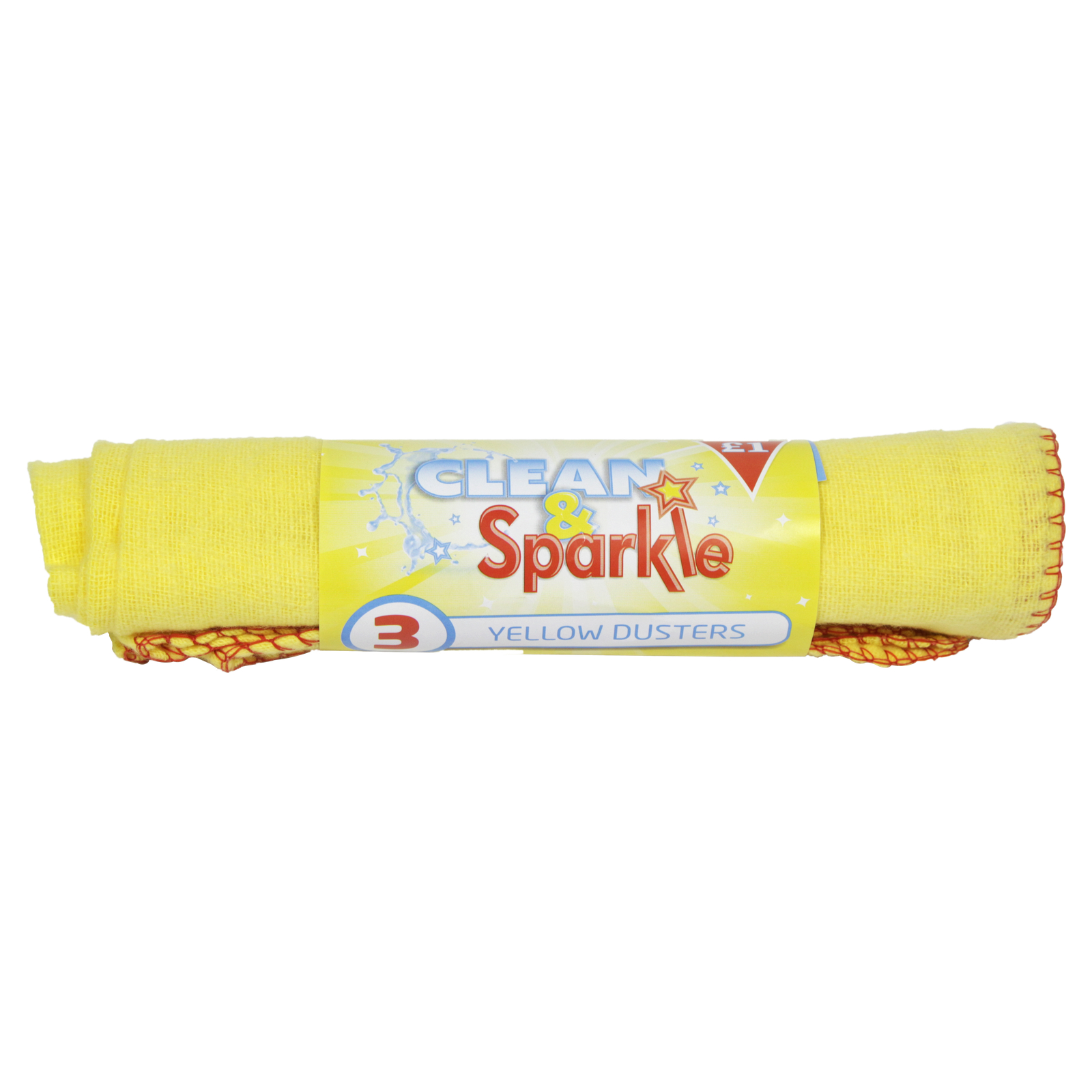 CLEAN+SPARKLE ?1 YELLOW DUSTERS 5PK