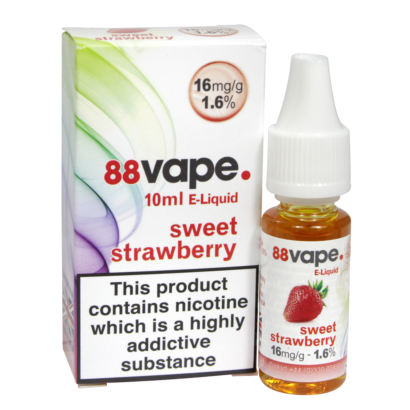 88VAPE 10ML E-LIQUID 16MG SWEET STRAWBERRY