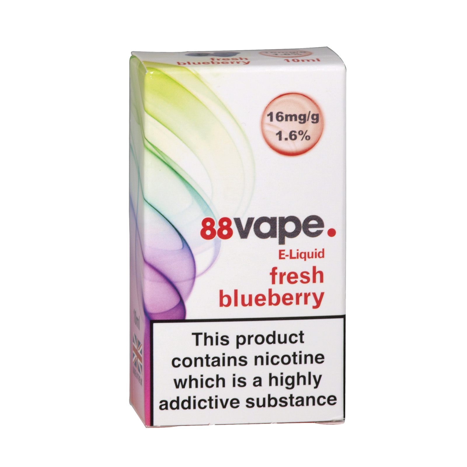 88VAPE 10ML E-LIQUID 16MG FRESH BLUEBERRY