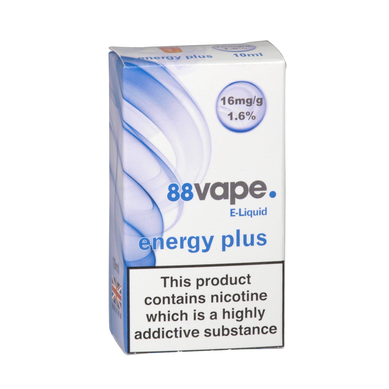88VAPE 10ML E-LIQUID 16MG ENERGY PLUS