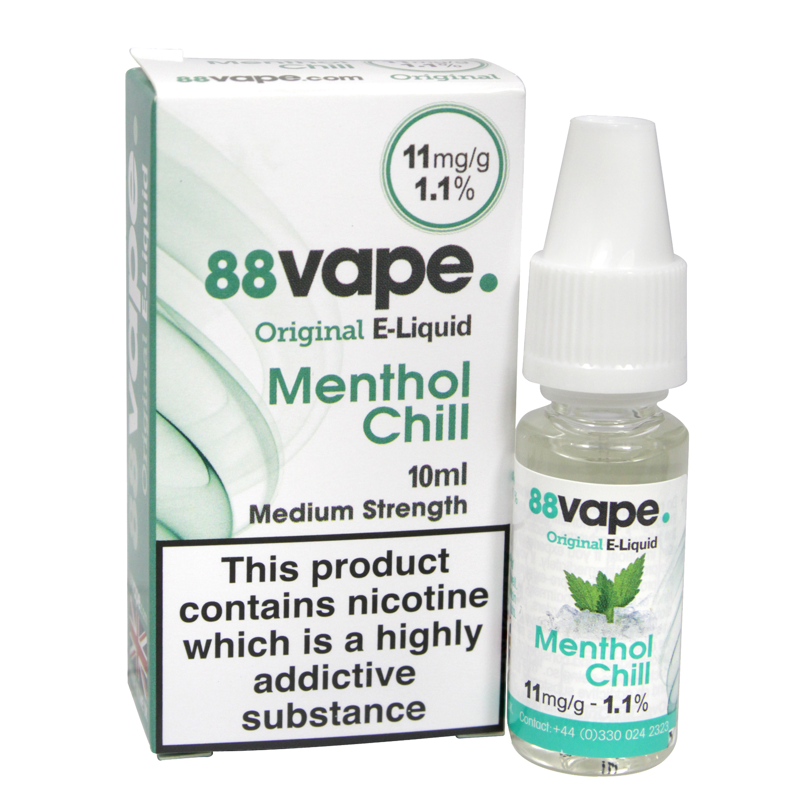 88VAPE 10ML E-LIQUID 11MG MENTHOL CHILL