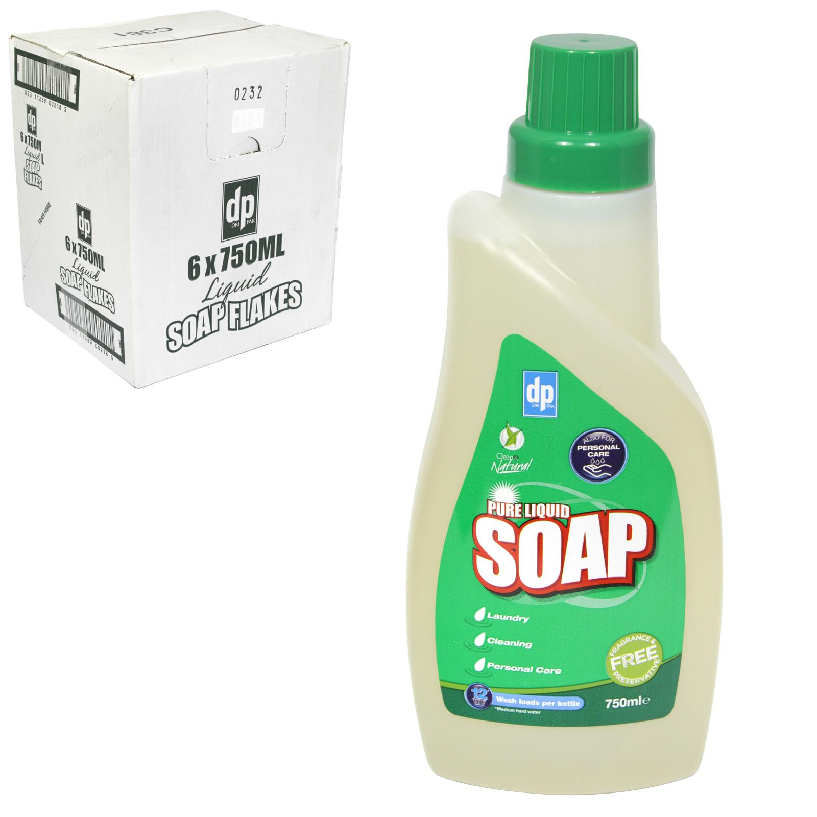 DRI-PAK LIQUID SOAP FLAKES 12 WASH X6