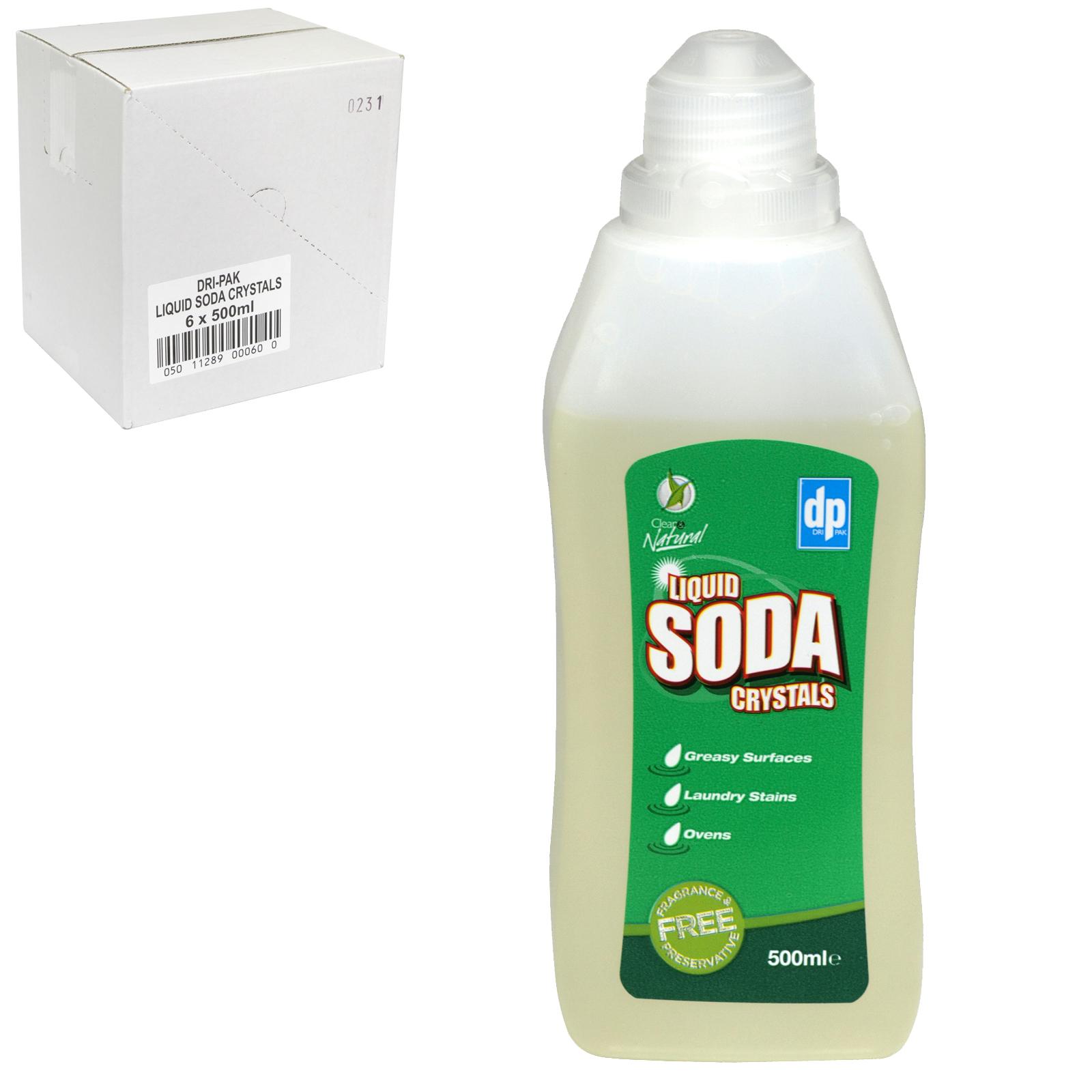DRI-PAK LIQUID SODA CRYSTALS 500ML X6