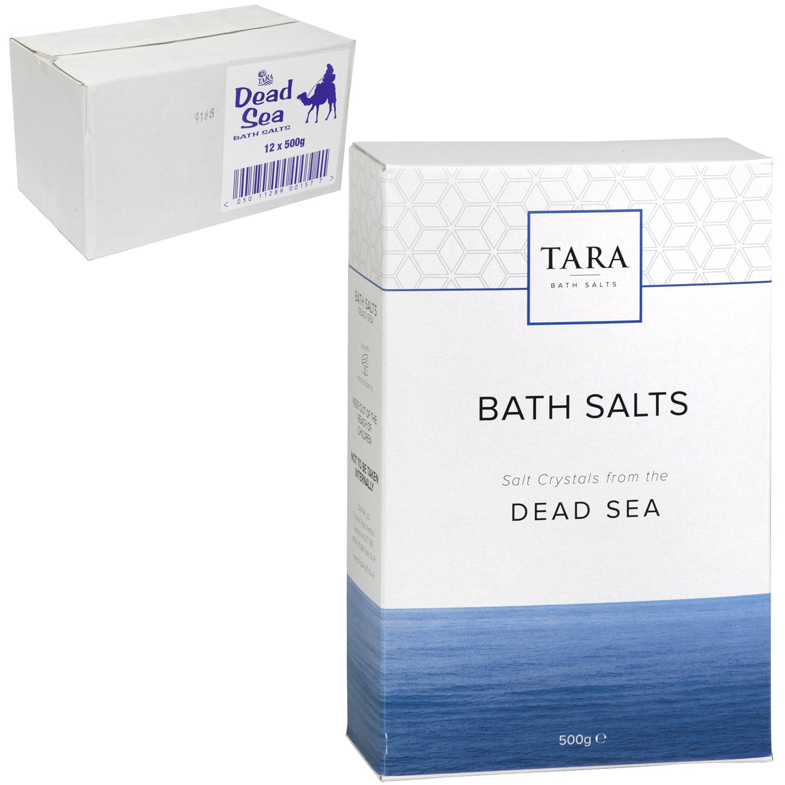TARA 500G BATH SALTS DEAD SEA SALT X12