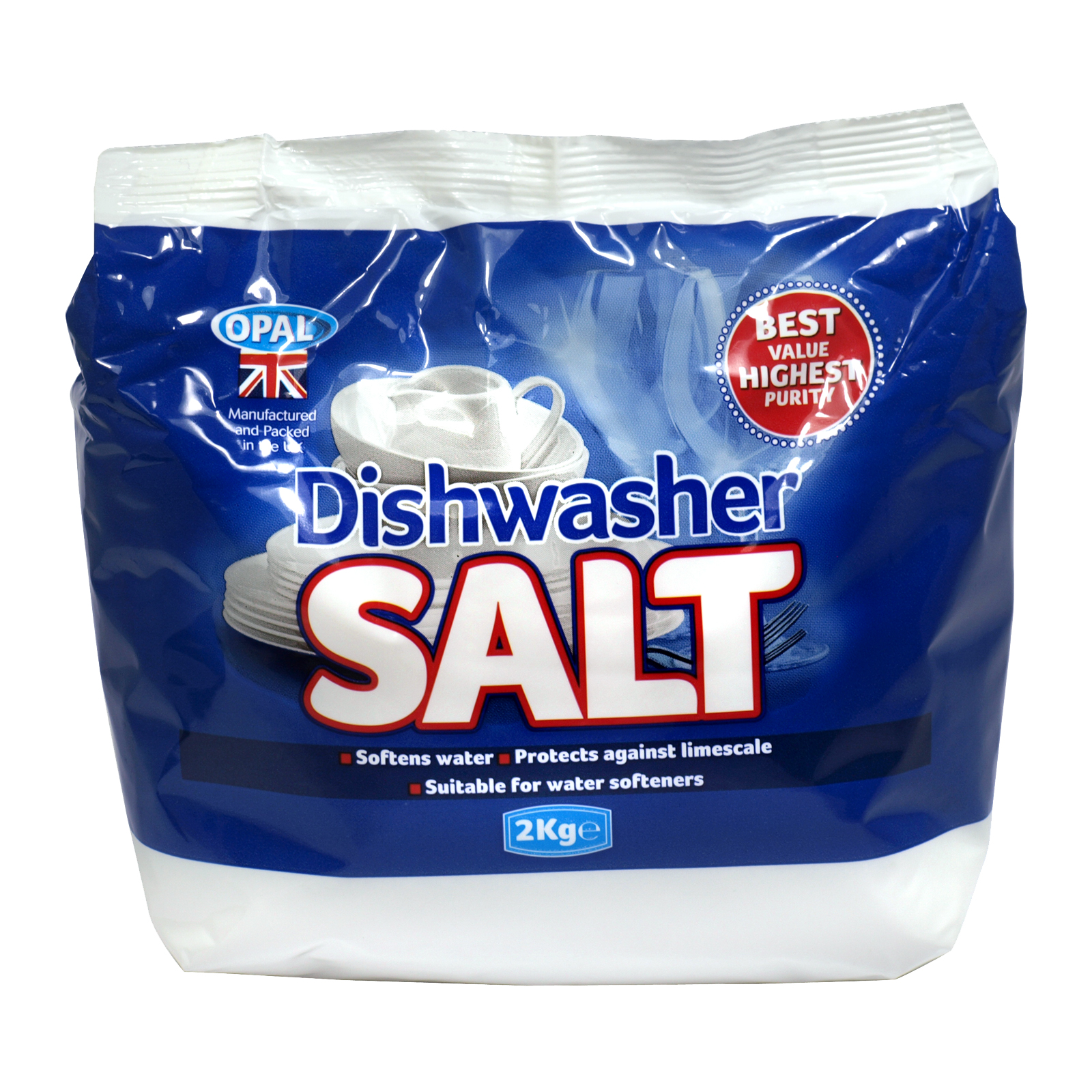OPAL DISHWASHER SALT 2 KILO BAG X6