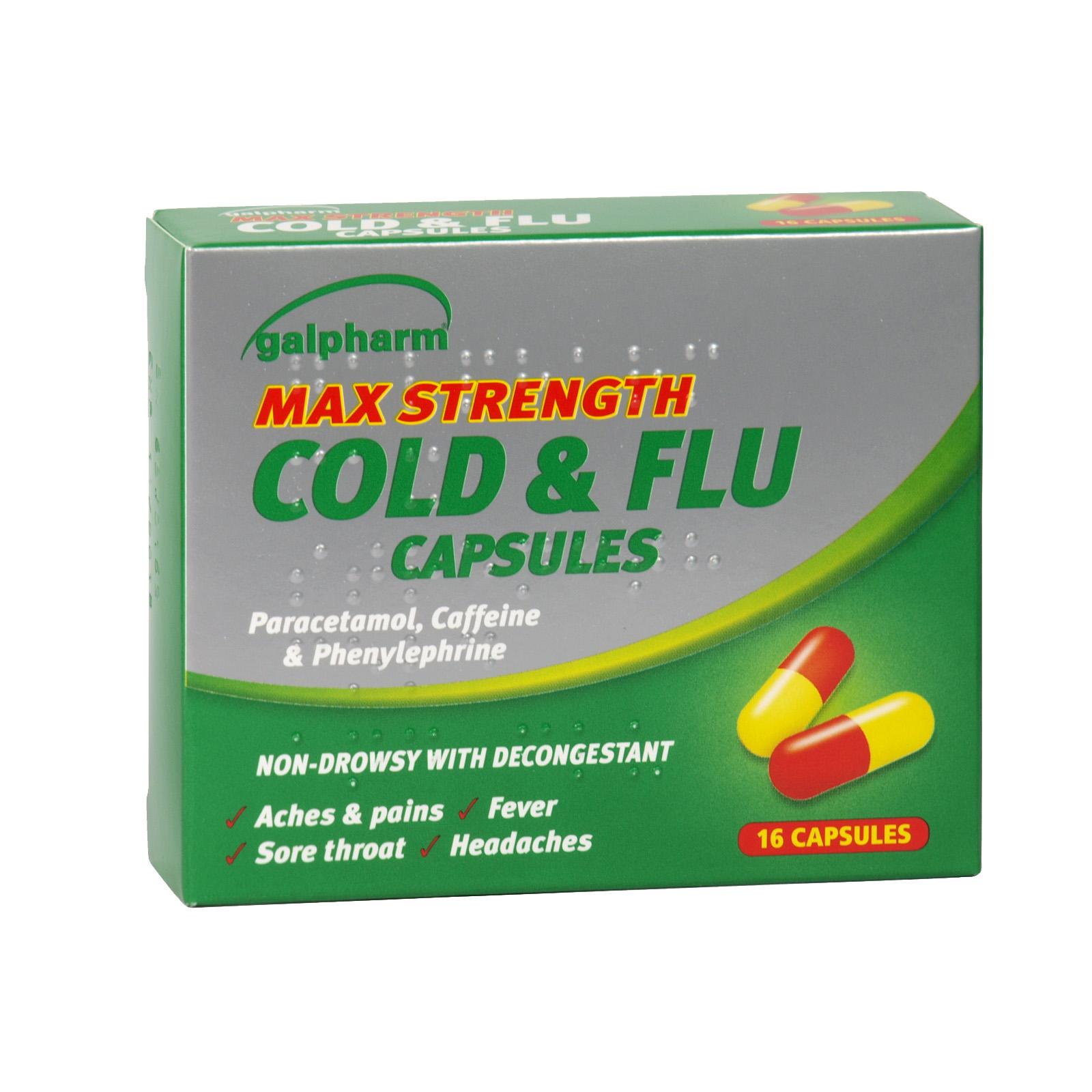 GALPHARM MAX COLD+FLU CAPS 16S X8