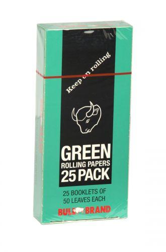 BULLBRAND CIGARETTE PAPERS 25PKX50L GREEN