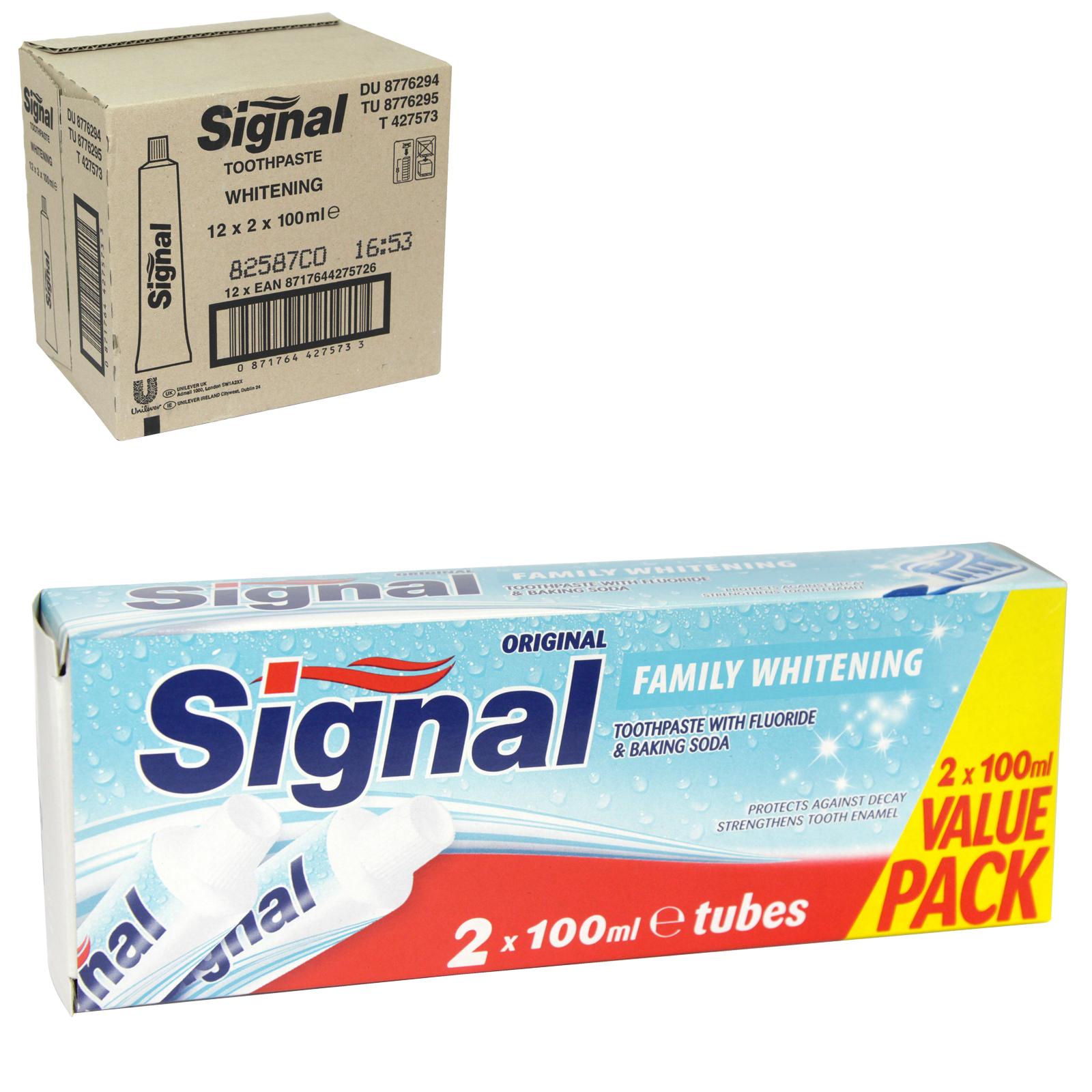 SIGNAL TOOTHPASTE 2X100ML FAMILY WHITENING X12