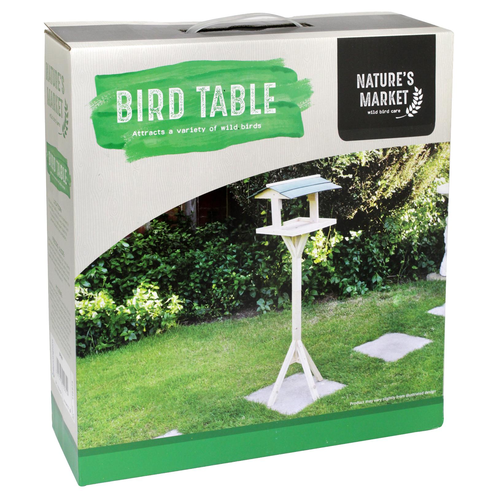 KINGFISHER WOOD BIRD FEEDING TABLE