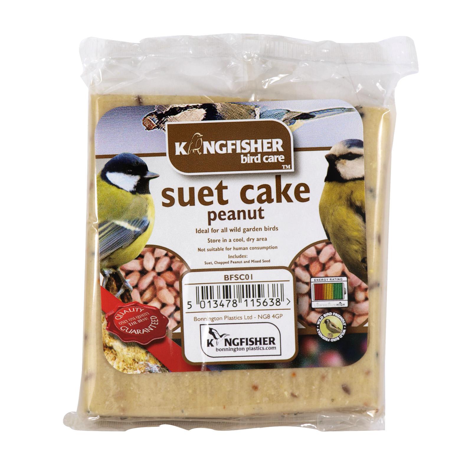 KINGFISHER WILD BIRD SUET CAKE+NUTS